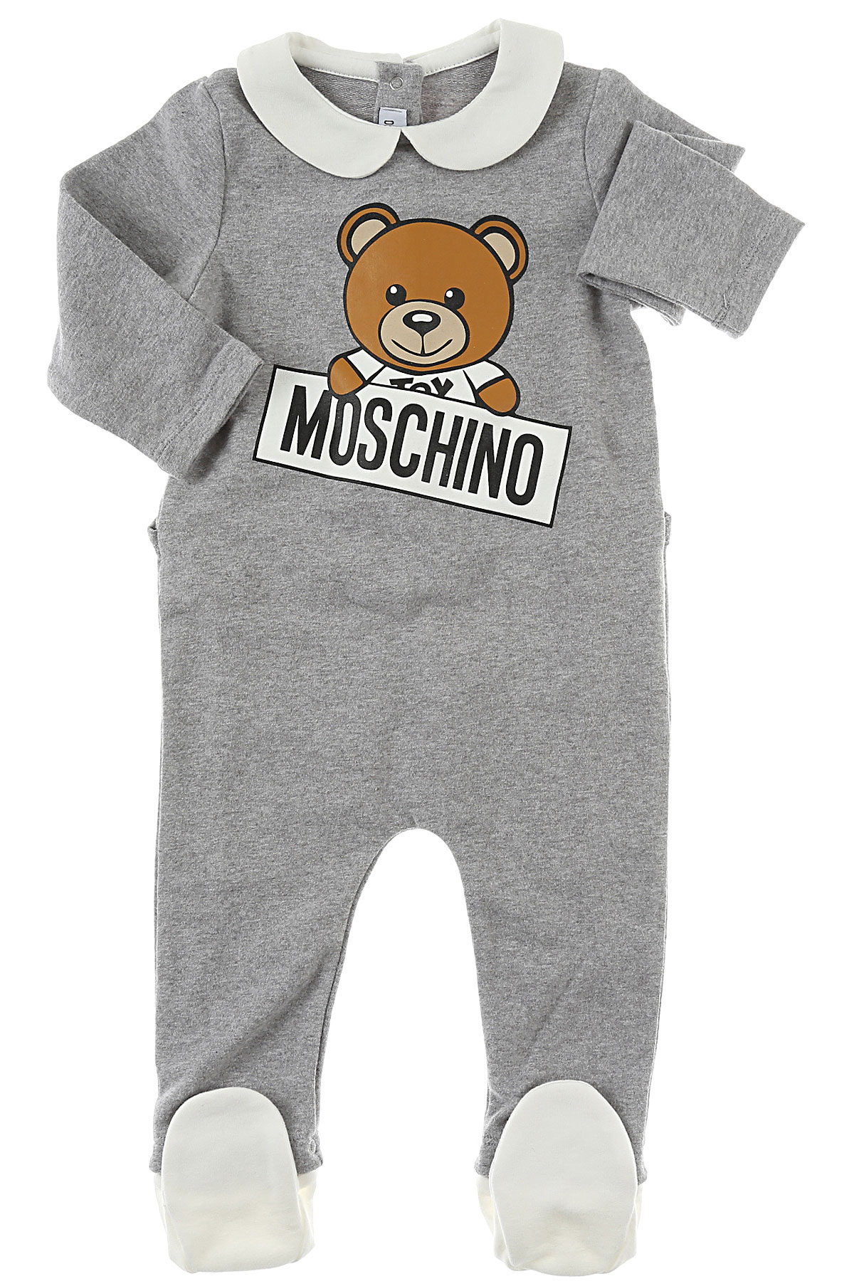 Image of Moschino Baby Bodysuits & Onesies for Boys, Grey, Cotton, 2017, 6M 6M 9M 9M