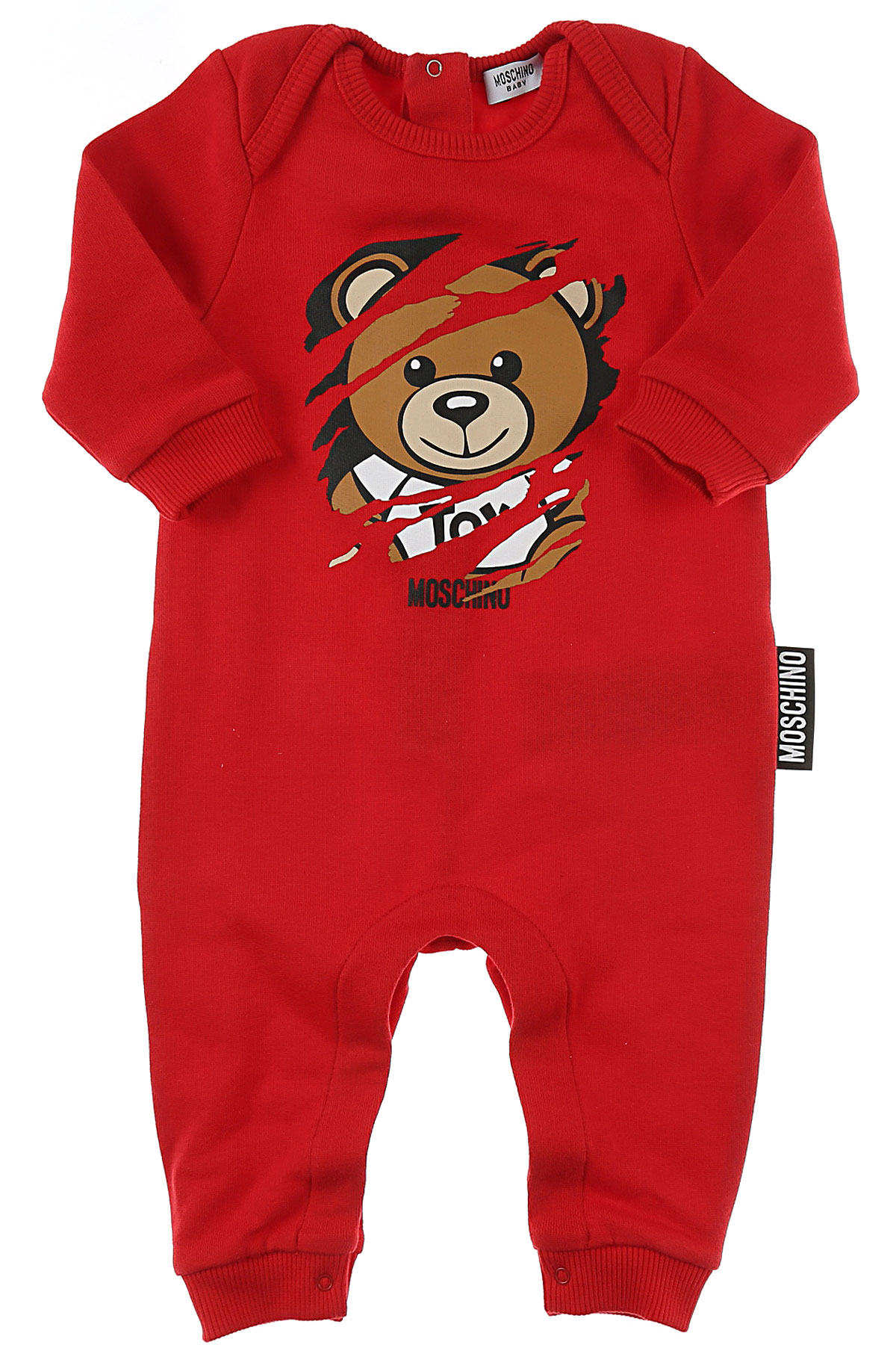 Image of Moschino Baby Bodysuits & Onesies for Boys, Red, Cotton, 2017, 9M