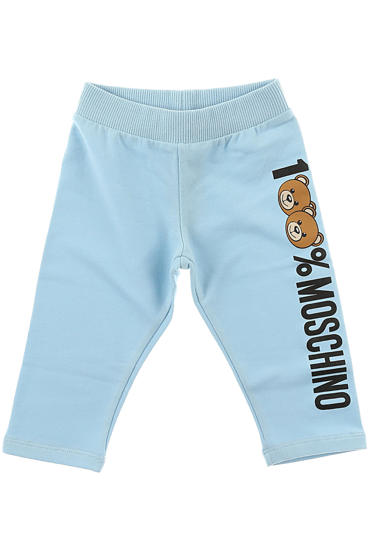 Image of Moschino Baby Sweatpants for Boys, celeste, Cotton, 2017, 24M 2Y 3Y 6M 9M
