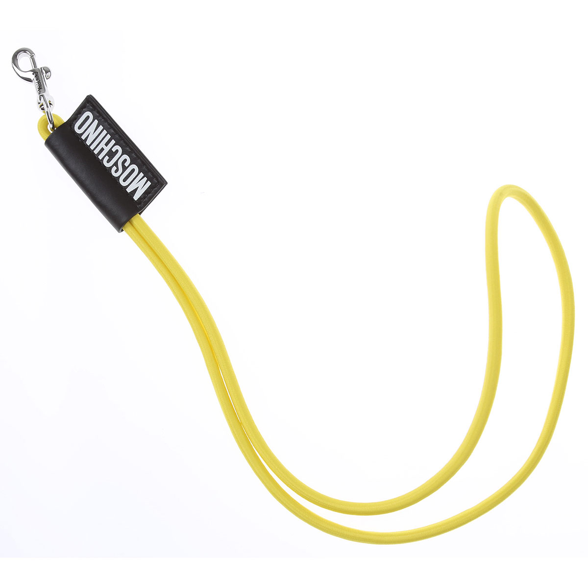Moschino Key Chain for Men, Key Ring On Sale, Yellow, Fabric, 2019