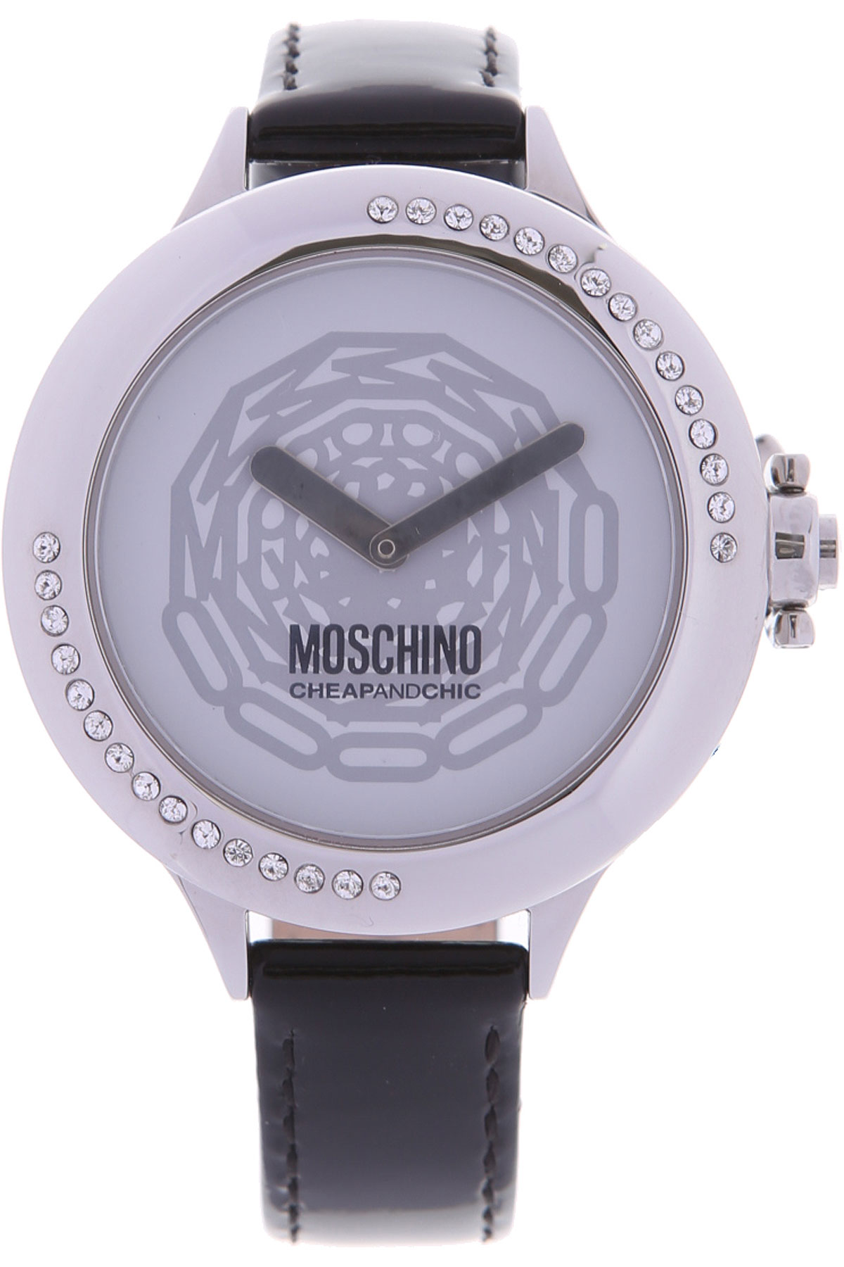 Moschino Watch for Women On Sale in Outlet, Black, Patent Leather, 2019