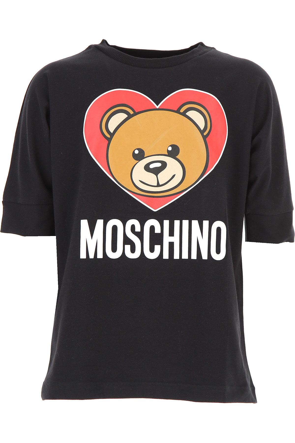 Moschino Kids T-Shirt for Girls, Black, Cotton, 2017, 10Y 14Y 6Y 8Y USA-486177