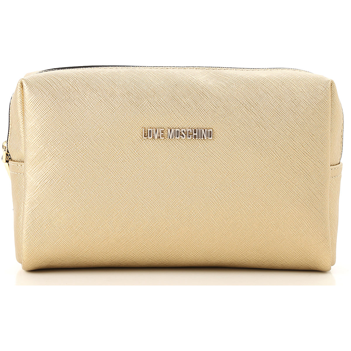 Image of Moschino Toiletry Bags, Gold, polyurethane, 2017