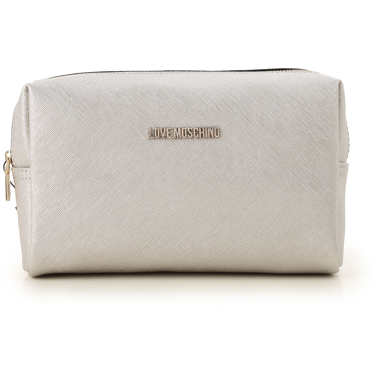 Image of Moschino Toiletry Bags, Silver, polyurethane, 2017