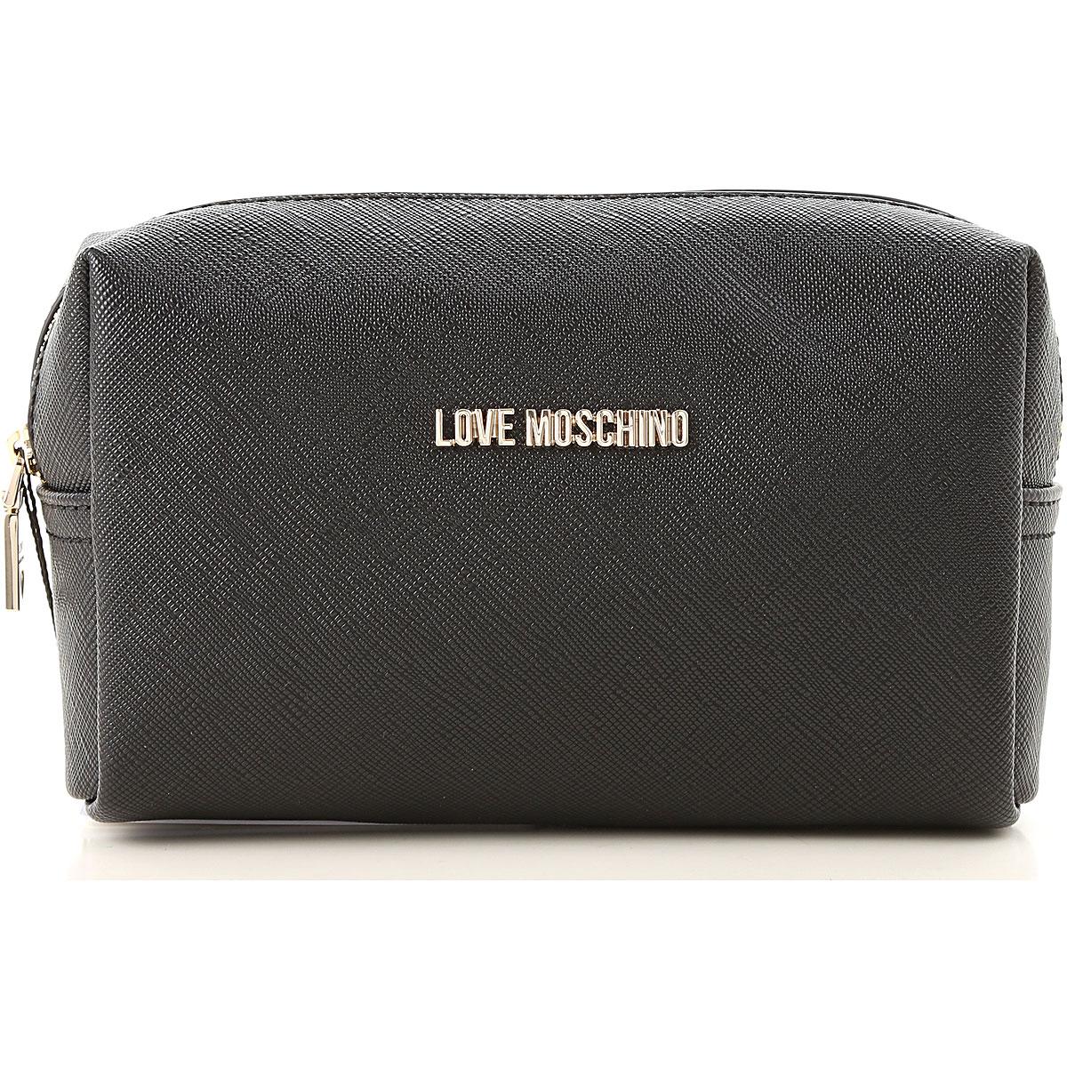 Image of Moschino Toiletry Bags, Black, polyurethane, 2017