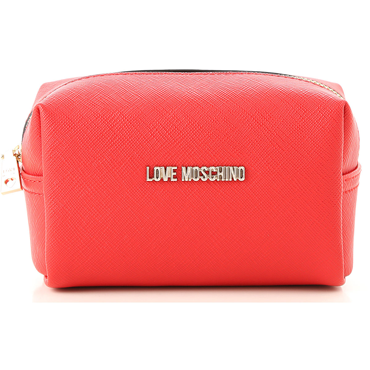 Image of Moschino Toiletry Bags, Red, polyurethane, 2017