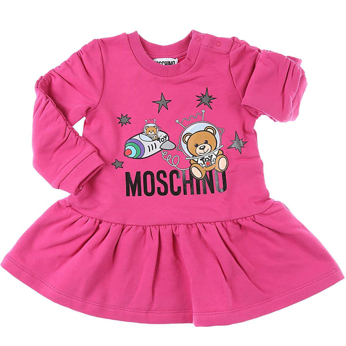 Moschino Baby Dress for Girls On Sale, Fuchsia, Cotton, 2019, 12M 24M