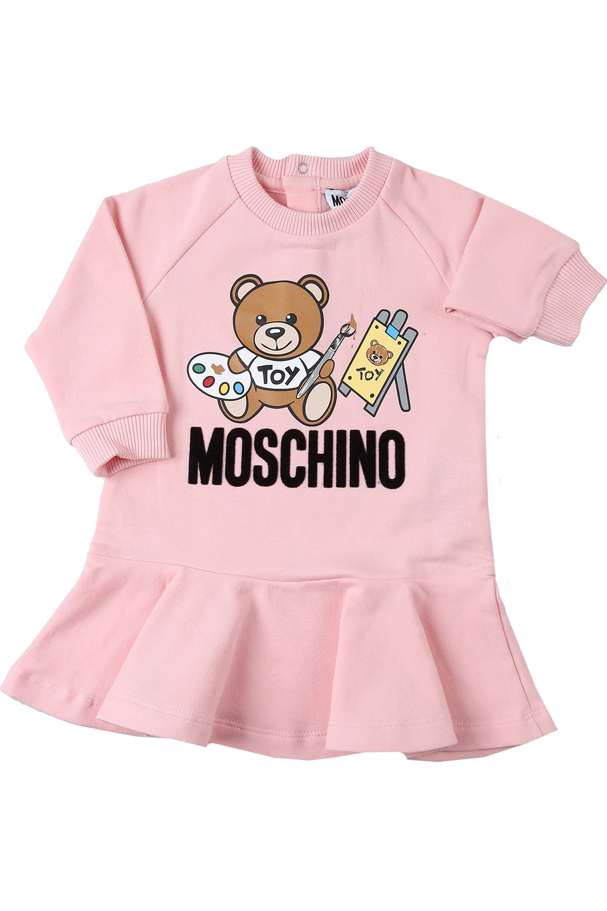 Moschino Baby Dress for Girls On Sale, Baby Pink, Cotton, 2019, 18M 3Y