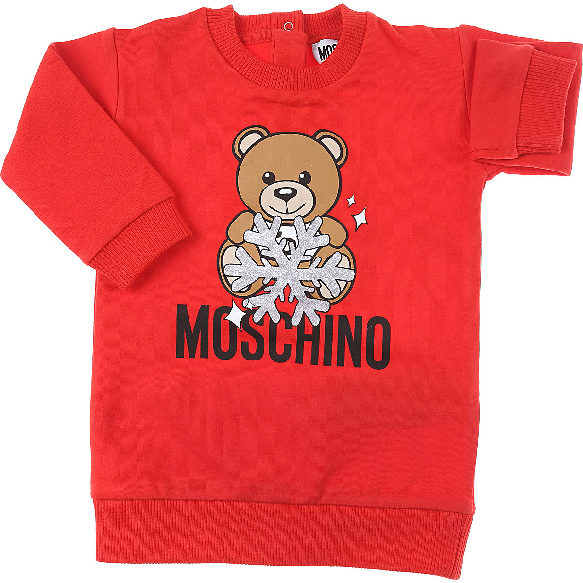 Moschino Baby Dress for Girls On Sale, Red, Cotton, 2019, 12M 18M 24M 3Y 9M