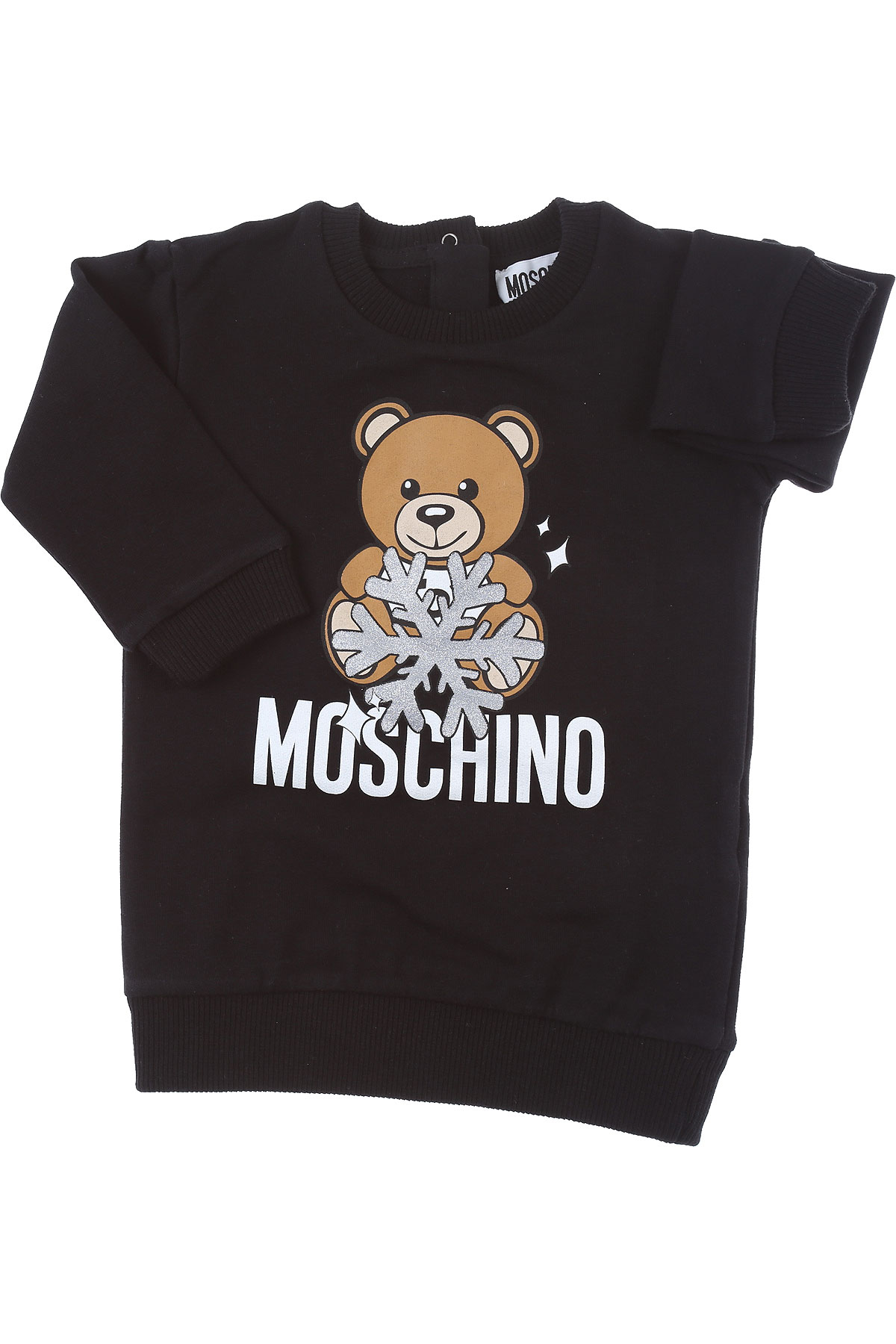 Moschino Baby Dress for Girls On Sale, Black, Cotton, 2019, 12M 18M 24M 3Y 9M