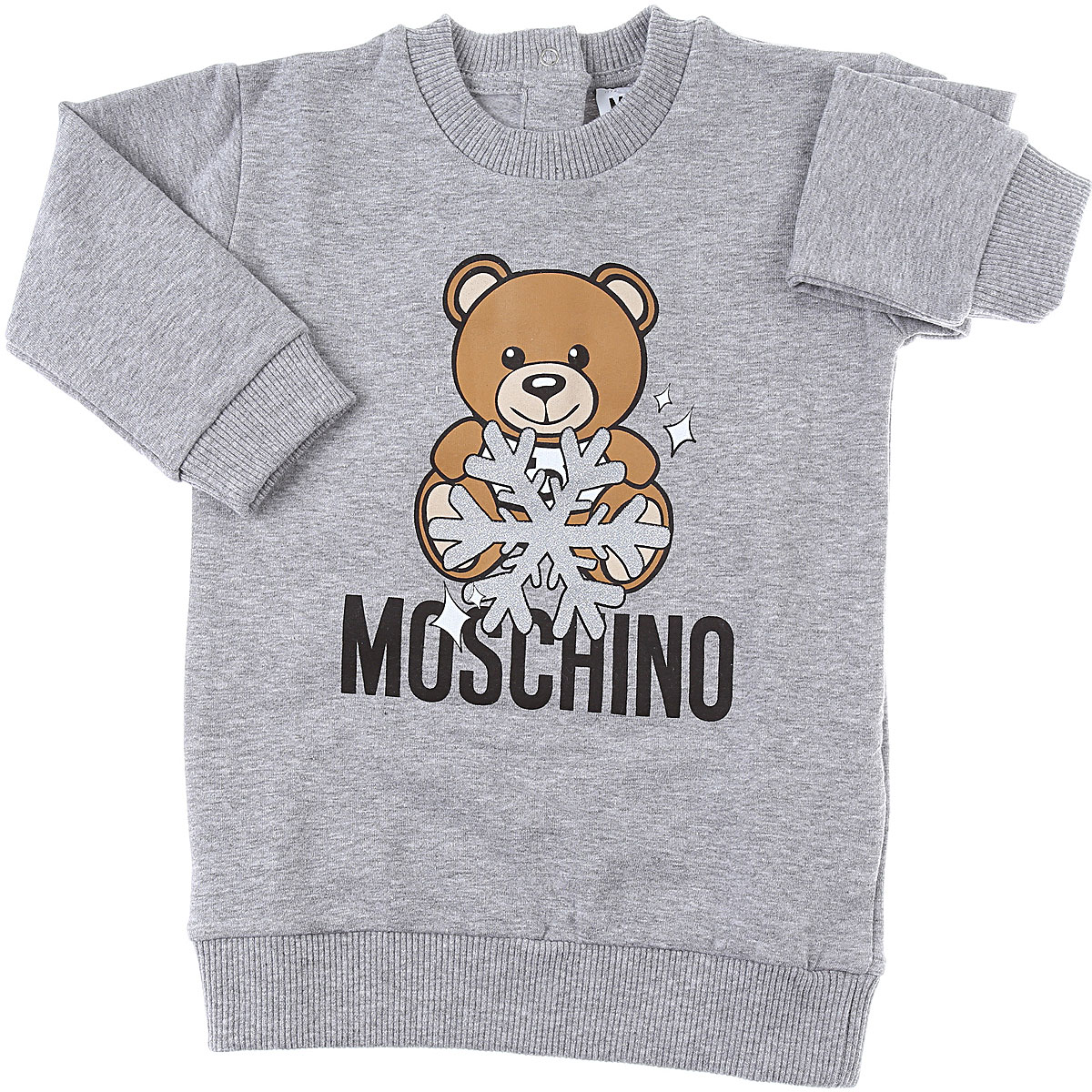 Moschino Baby Dress for Girls On Sale, Grey, Cotton, 2019, 12M 18M 18M 24M 3Y 9M