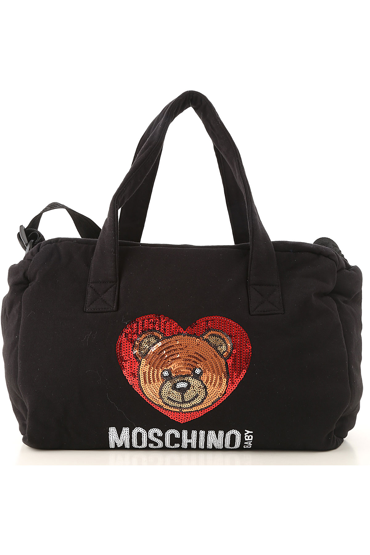 Image of Moschino Baby Girls Handbag, Black, Cotton, 2017