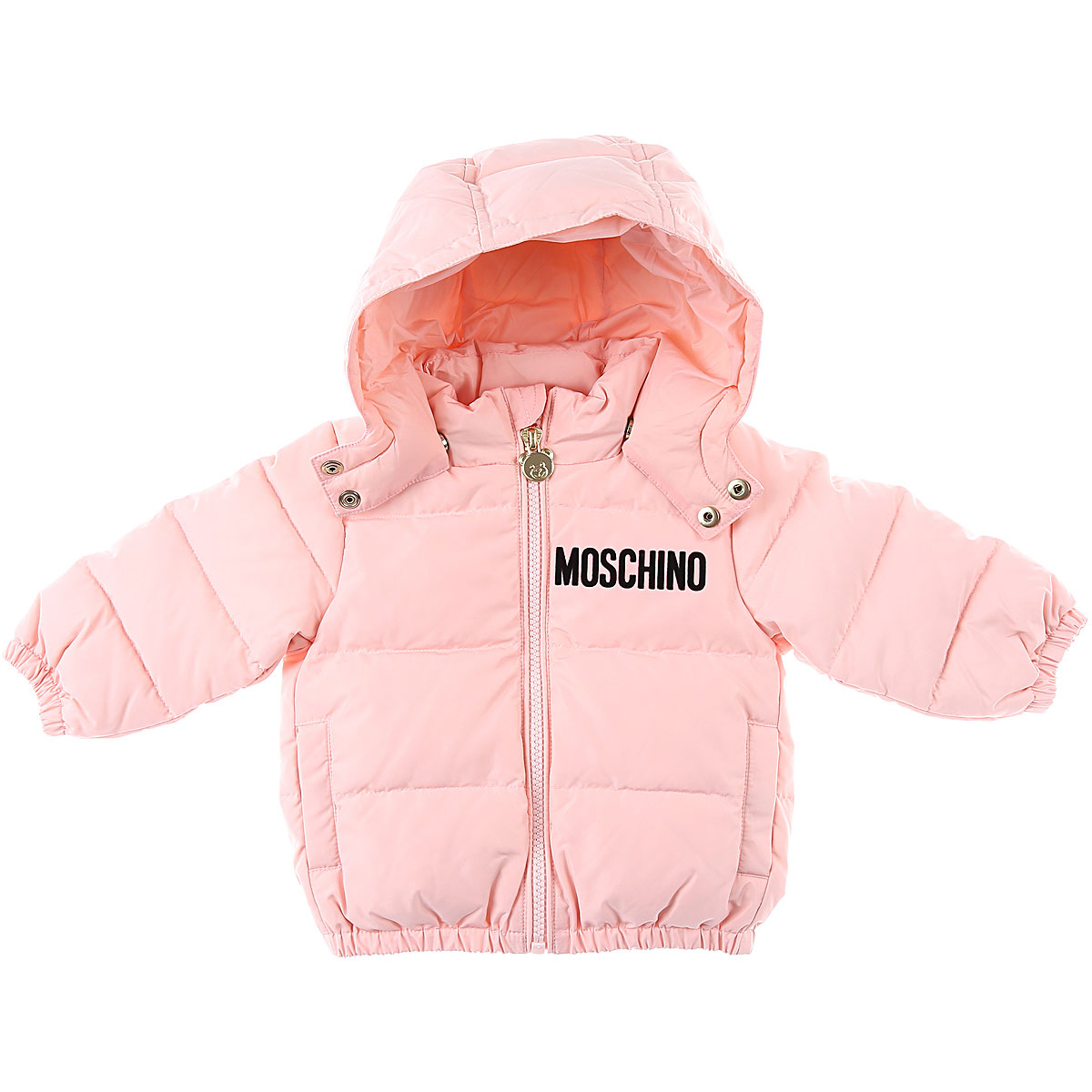 Moschino Baby Down Jacket for Girls On Sale, Pink, polyester, 2019, 12M 18M 24M 2Y 3Y 6M 9M