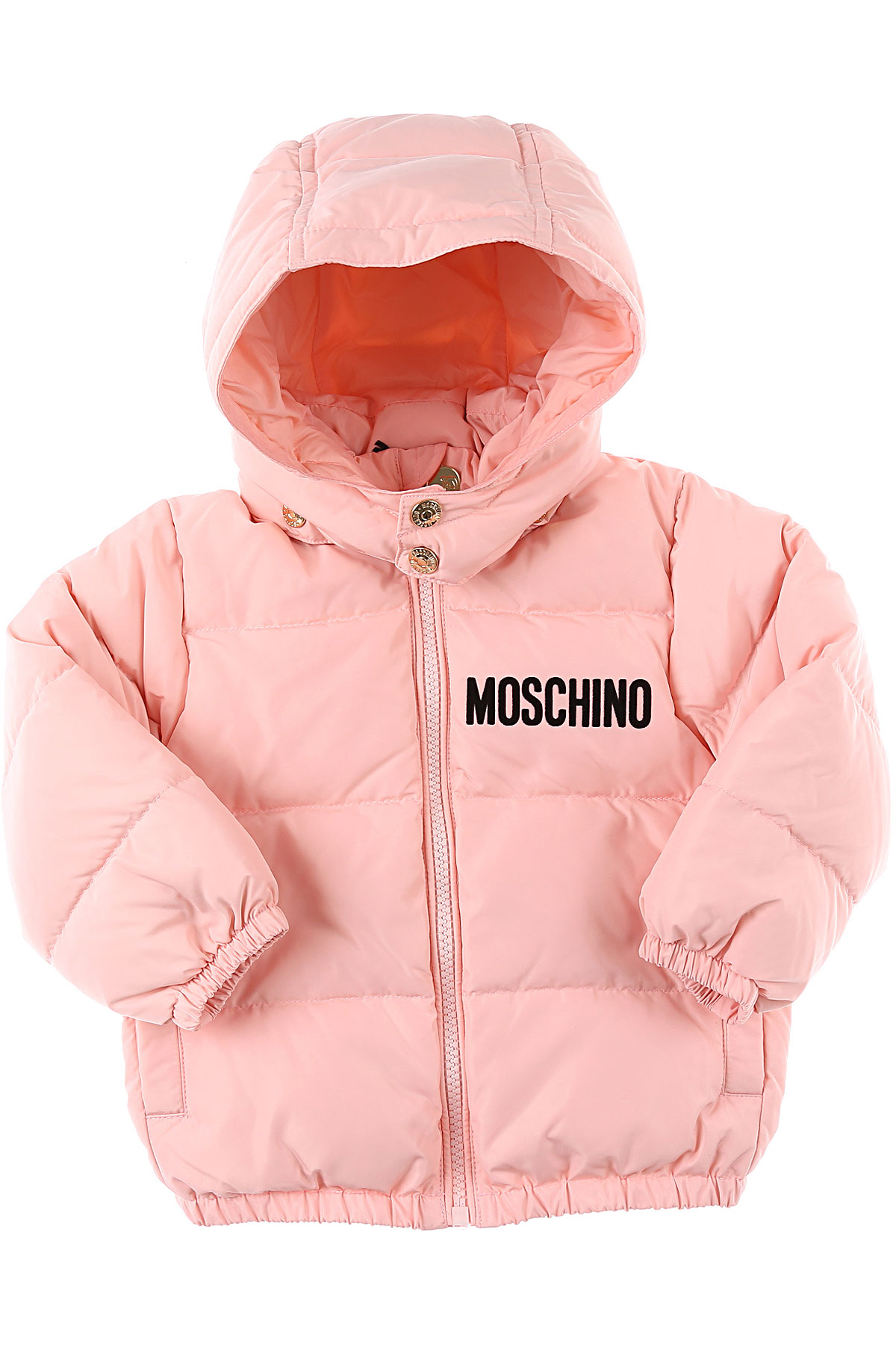 Moschino Baby Down Jacket for Girls On Sale, Pink, polyester, 2019, 18M 2Y 3Y