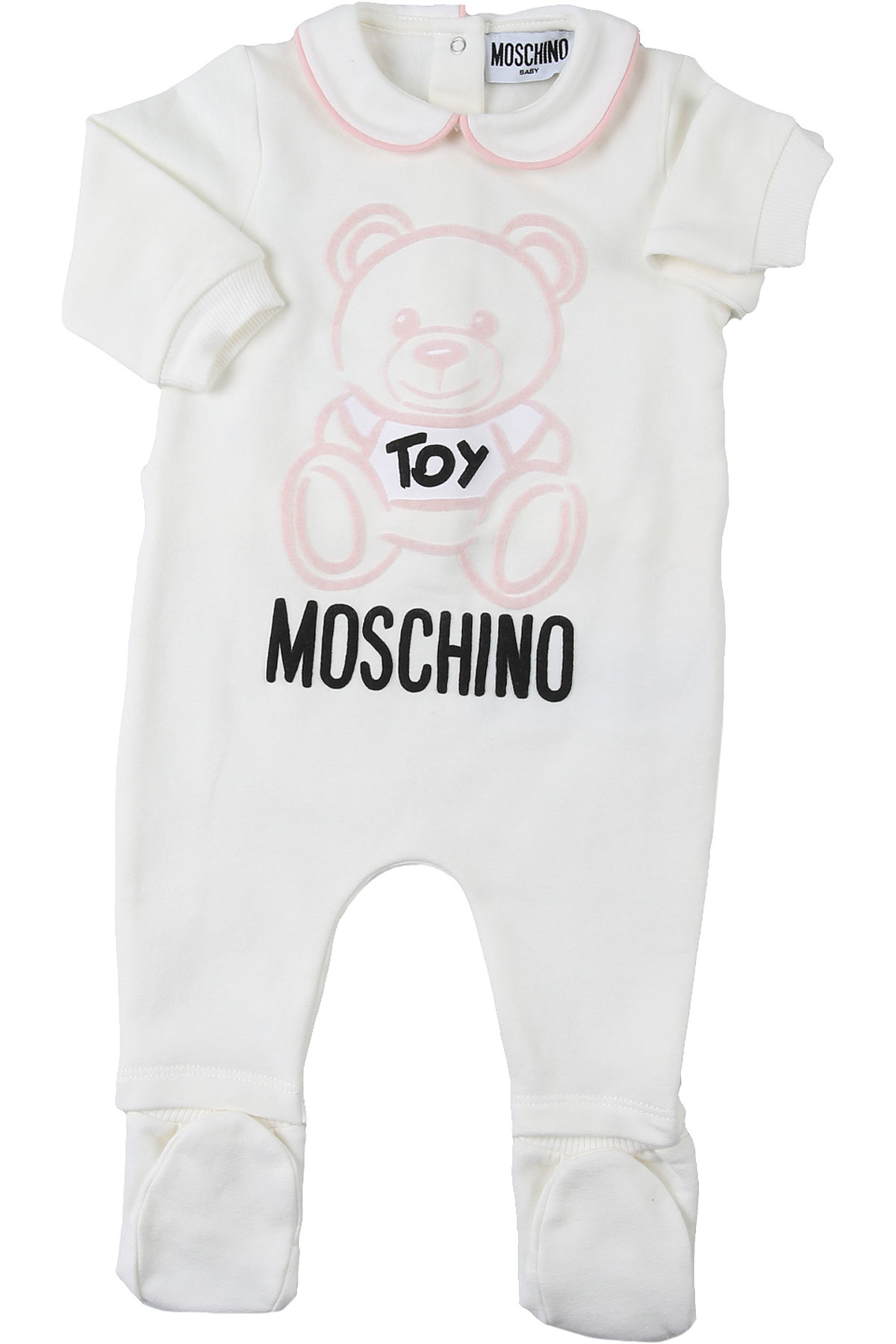 Moschino Baby Bodysuits & Onesies for Girls On Sale, White, Cotton, 2019, 3M 6M 9M