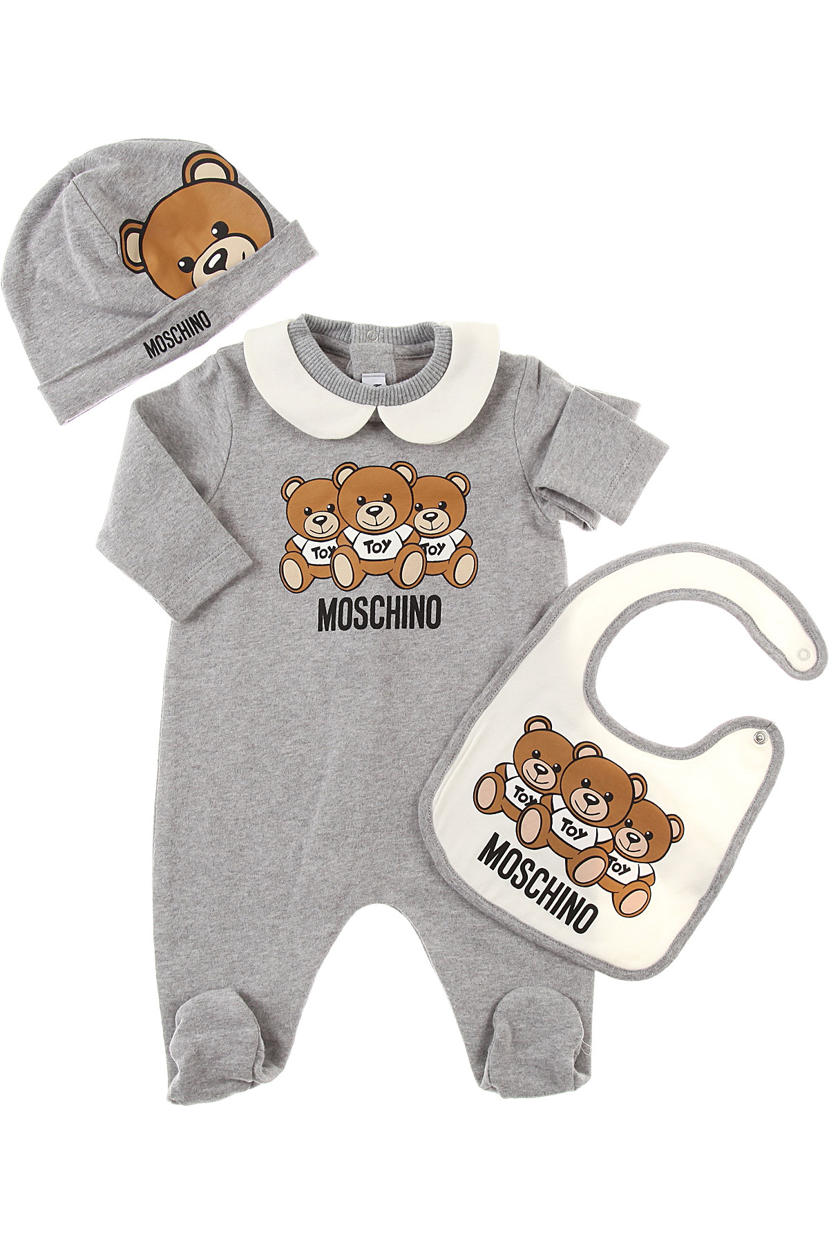 Image of Moschino Baby Bodysuits & Onesies for Girls, Grey, Cotton, 2017, 6M 9M
