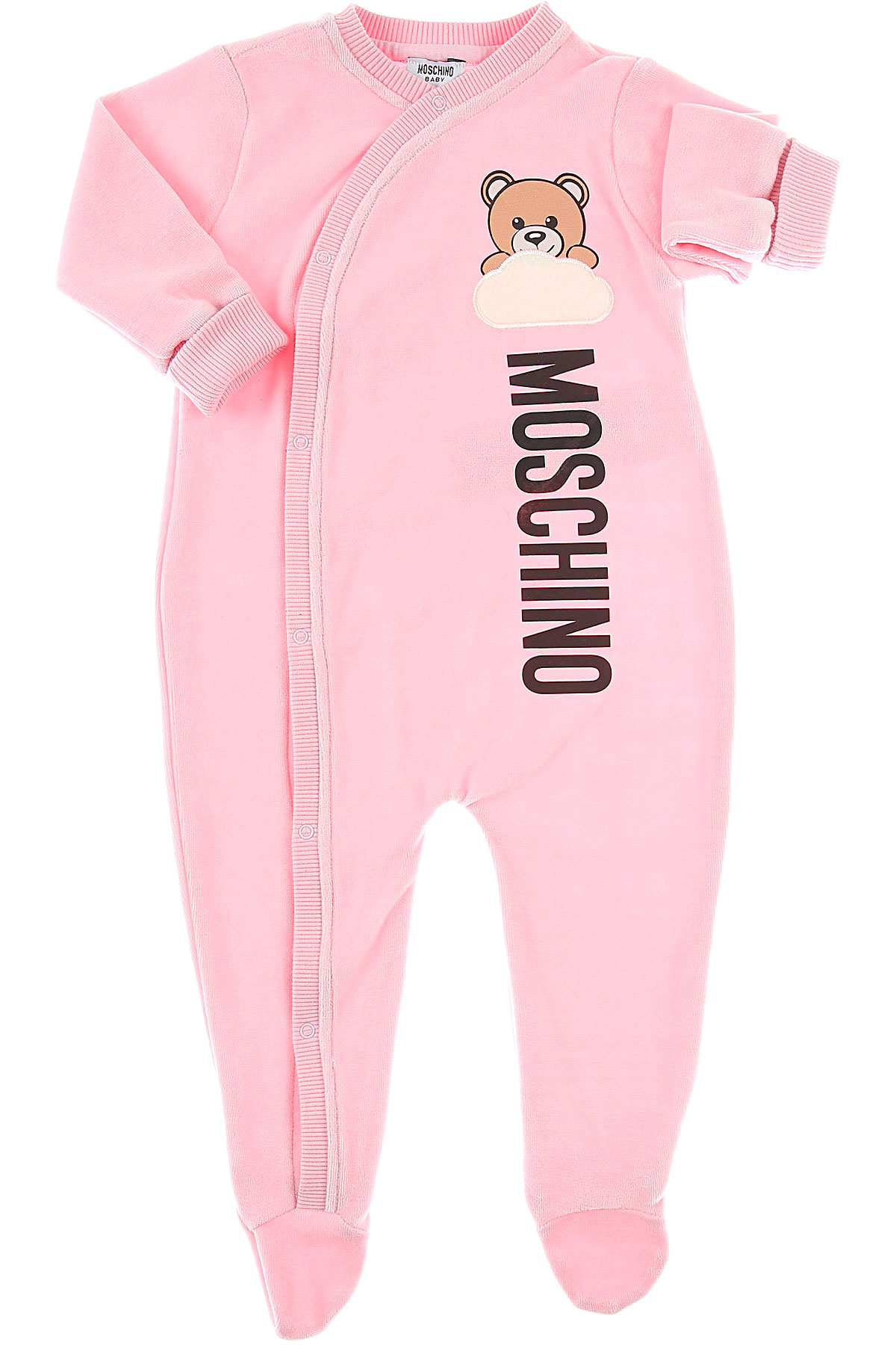 Image of Moschino Baby Bodysuits & Onesies for Girls, Light Pink, Cotton, 2017, 6M 9M