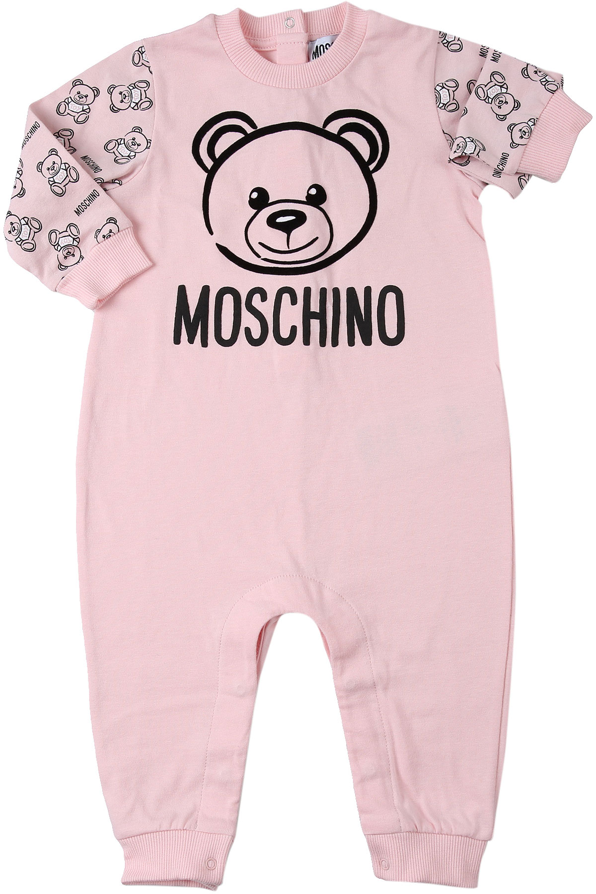 Moschino Baby Bodysuits & Onesies for Girls On Sale, Pink, Cotton, 2019, 6M 9M