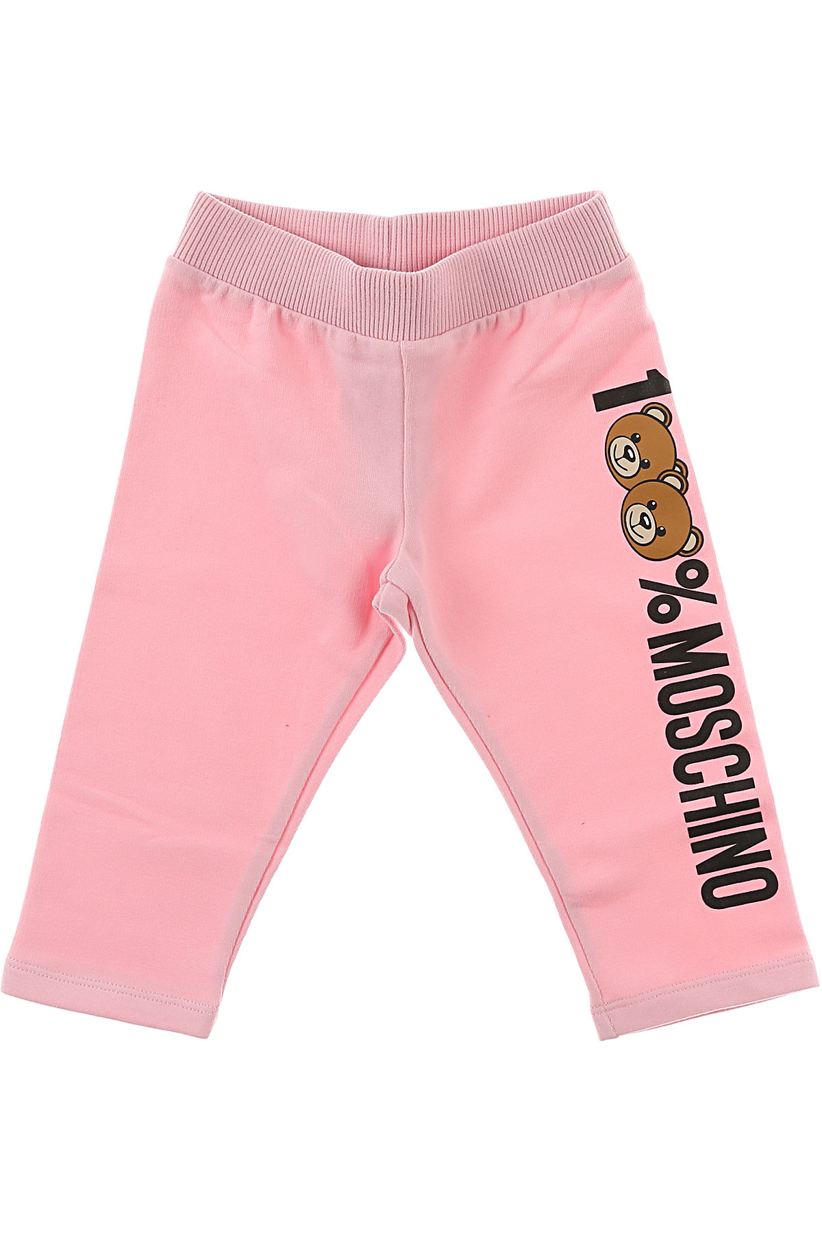 Image of Moschino Baby Sweatpants for Girls, Pink, Cotton, 2017, 24M 2Y 3Y