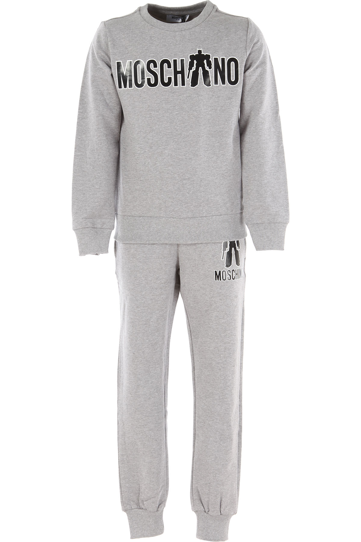 Image of Moschino Sets On Sale in Outlet, Grey, Cotton, 2017, 6Y 8Y