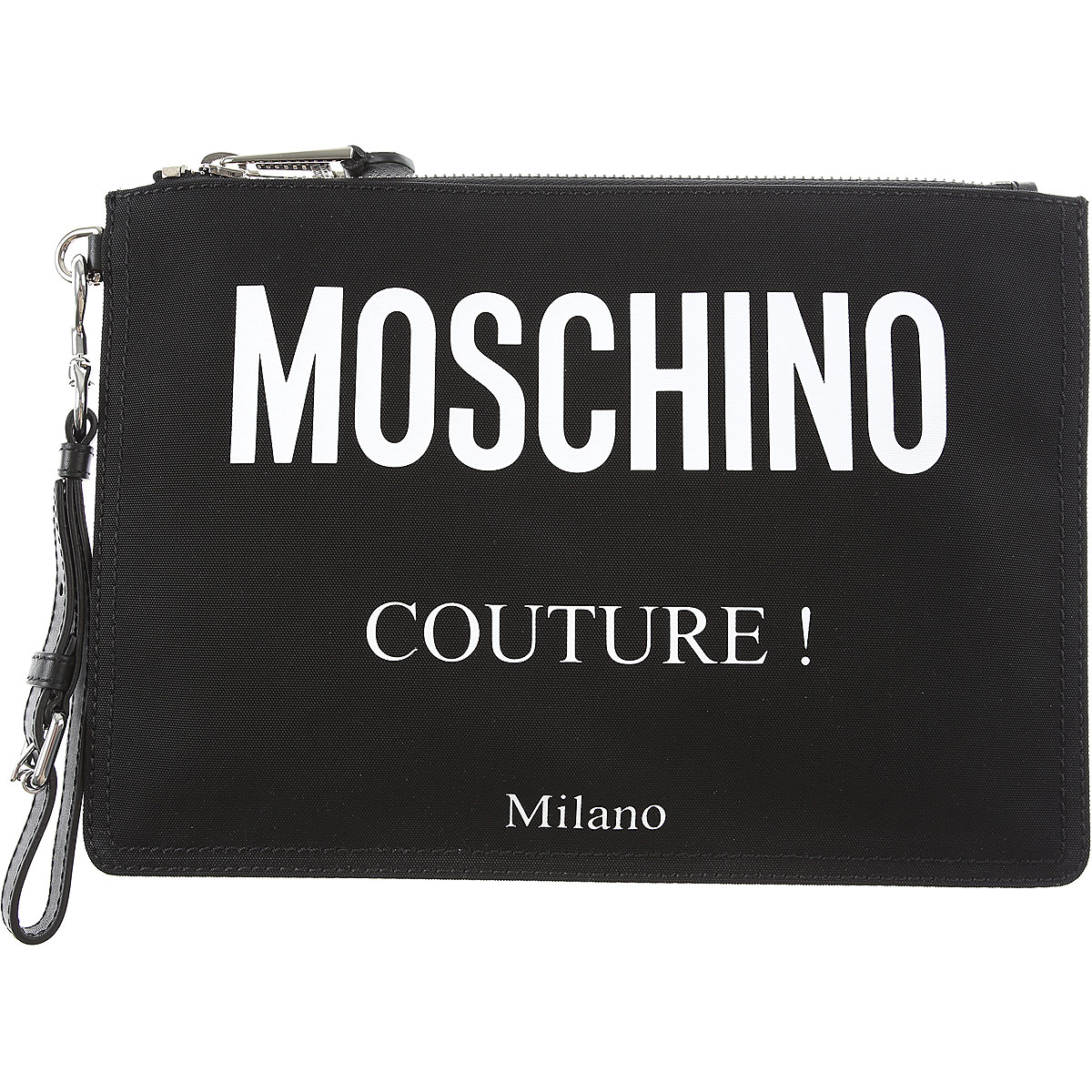 Moschino Briefcases On Sale, Black, Nylon, 2019