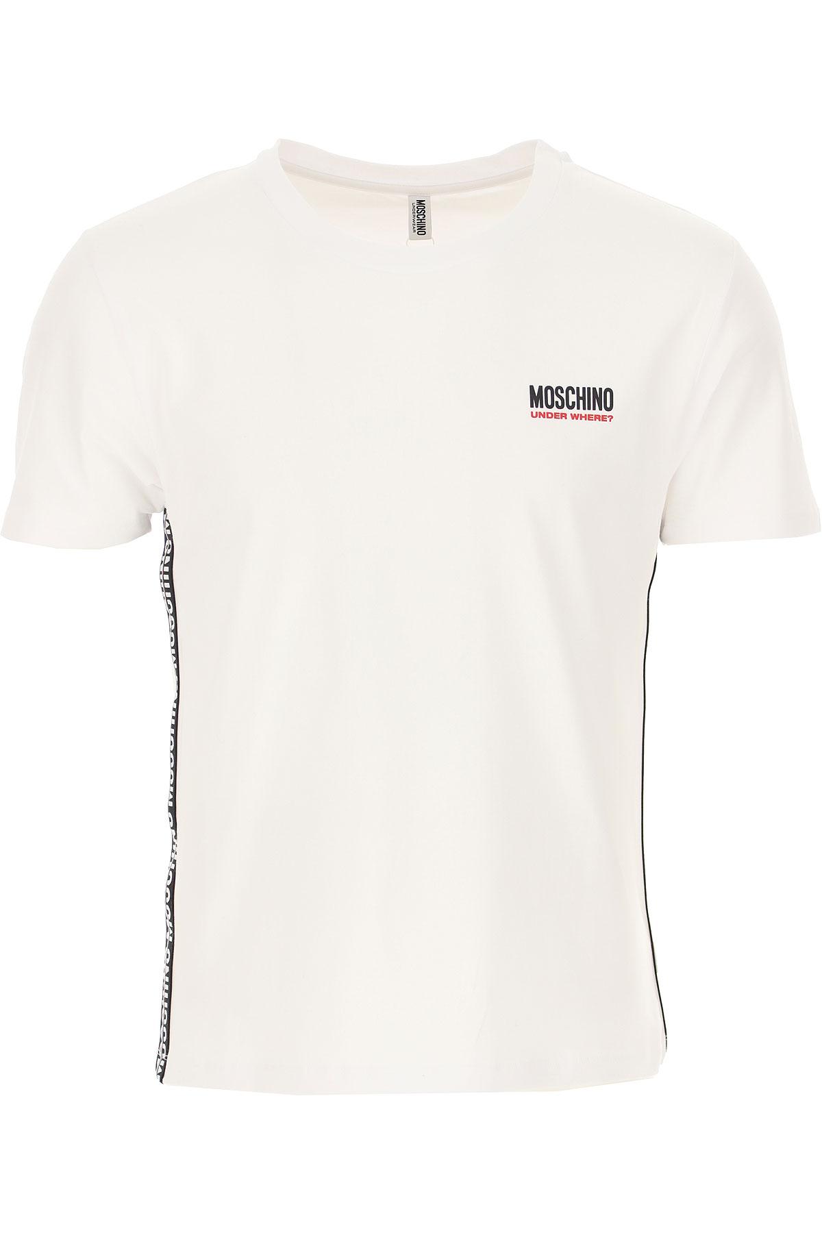 Moschino T-shirt Homme Pas cher en Soldes, Blanc, Coton, 2021, L M XL