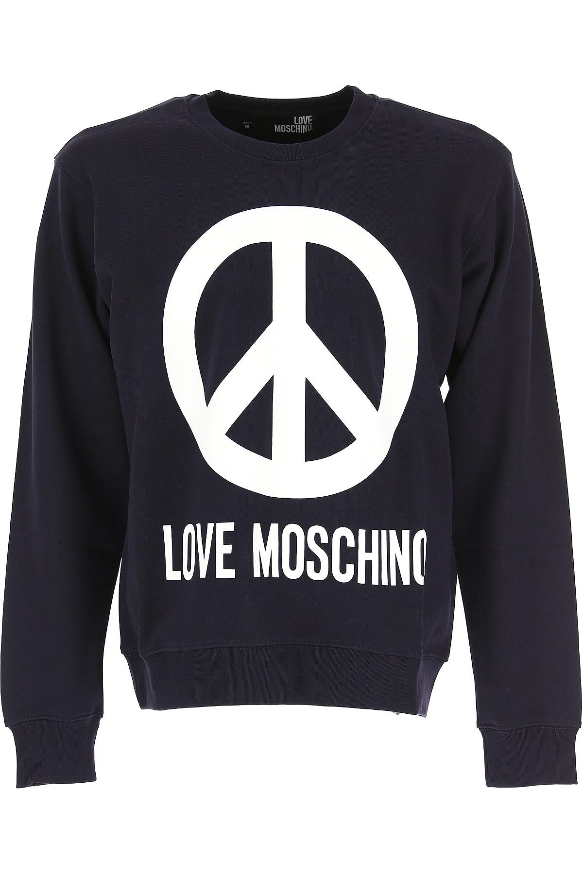 Moschino Sweatshirt for Men, Navy Blue, Cotton, 2017, L M S XL XS USA-468292