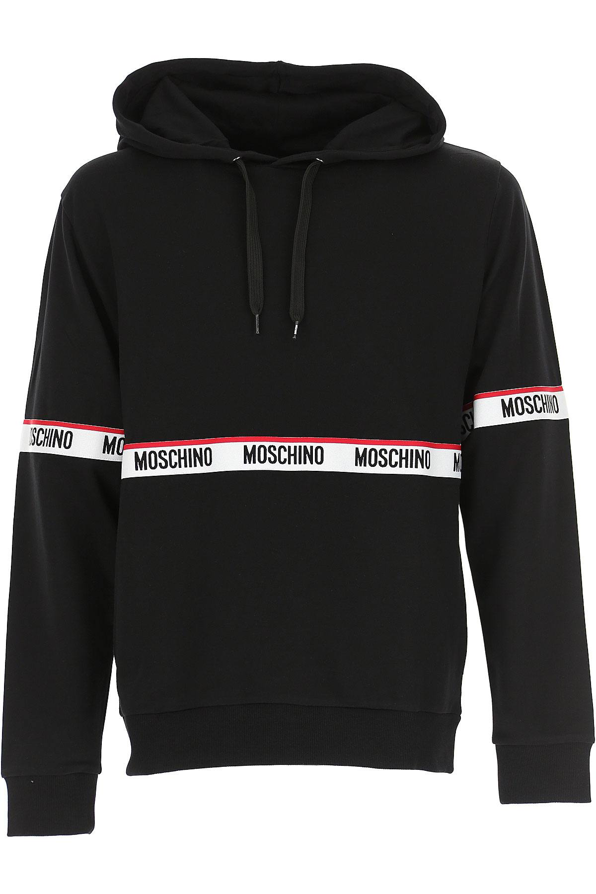 Moschino Men's Sportswear for Gym Workouts and Running On Sale, Black, Cotton, 2019, L M S