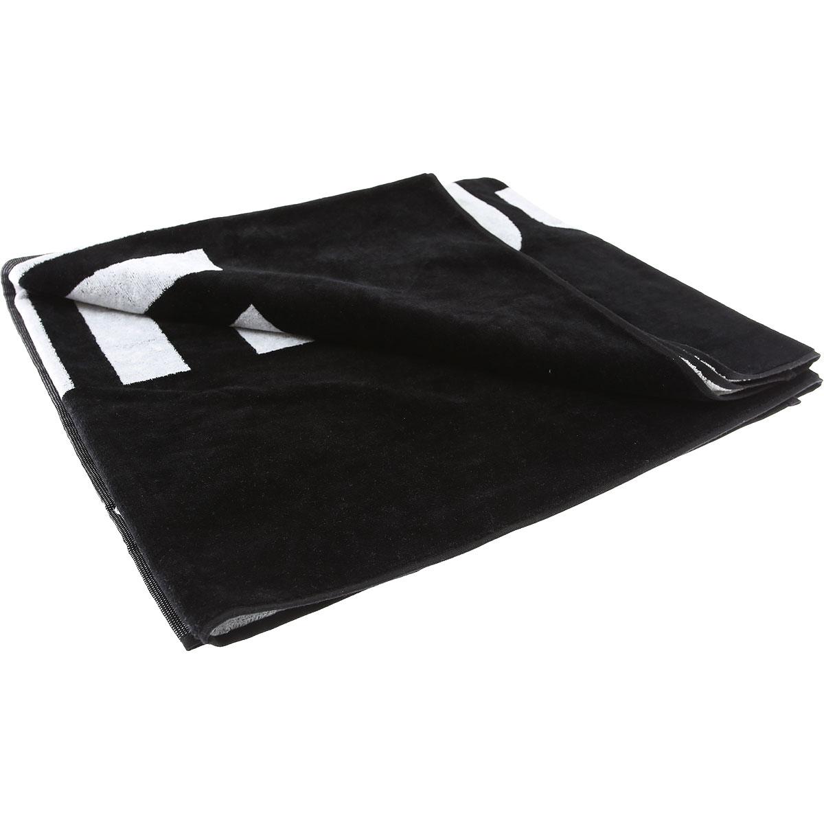 Moschino Beach Towel On Sale, Black, Cotton, 2019