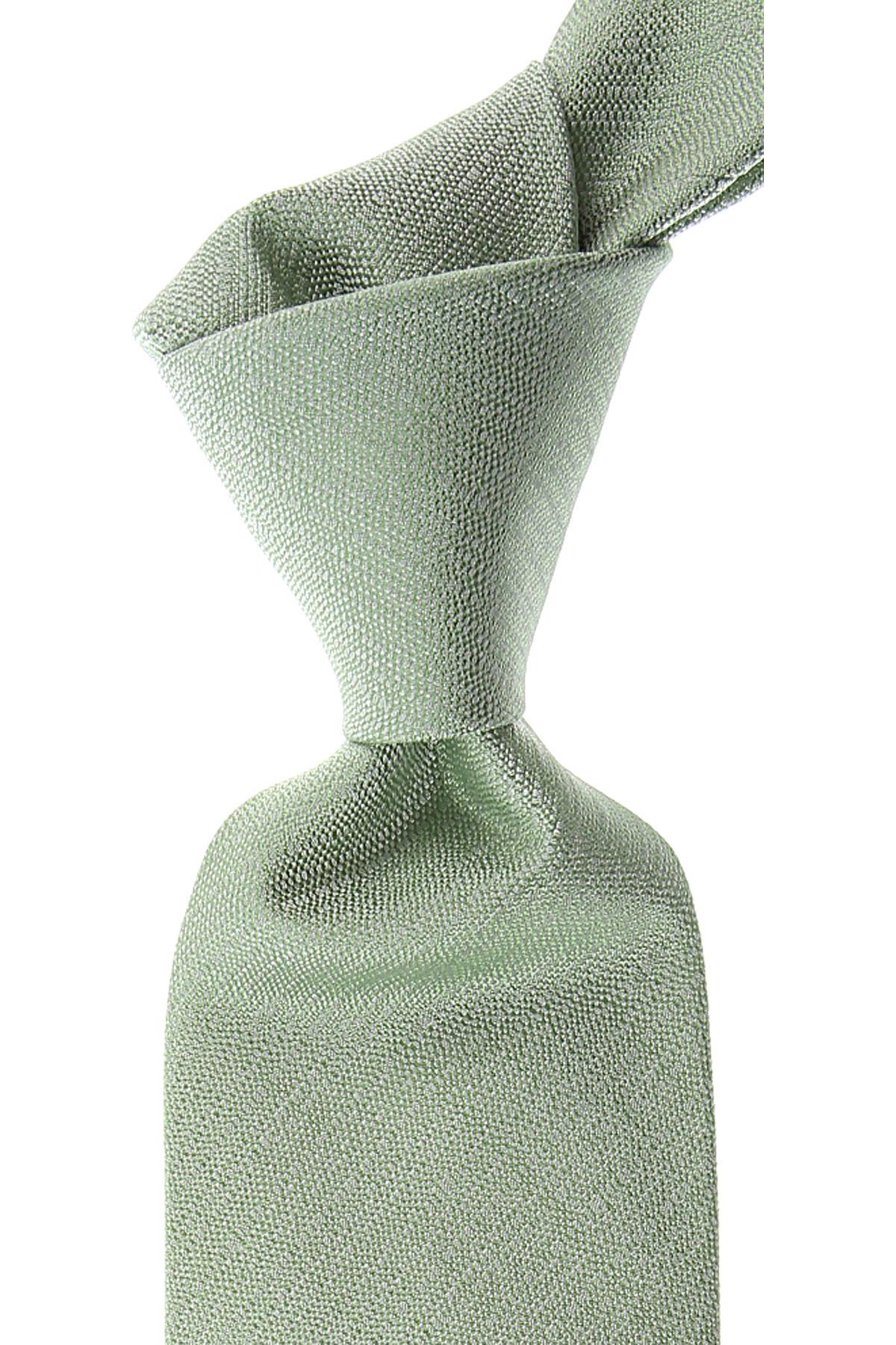 Moschino Cravates Pas cher en Soldes, Light Grass Green Melange, Soie, 2019