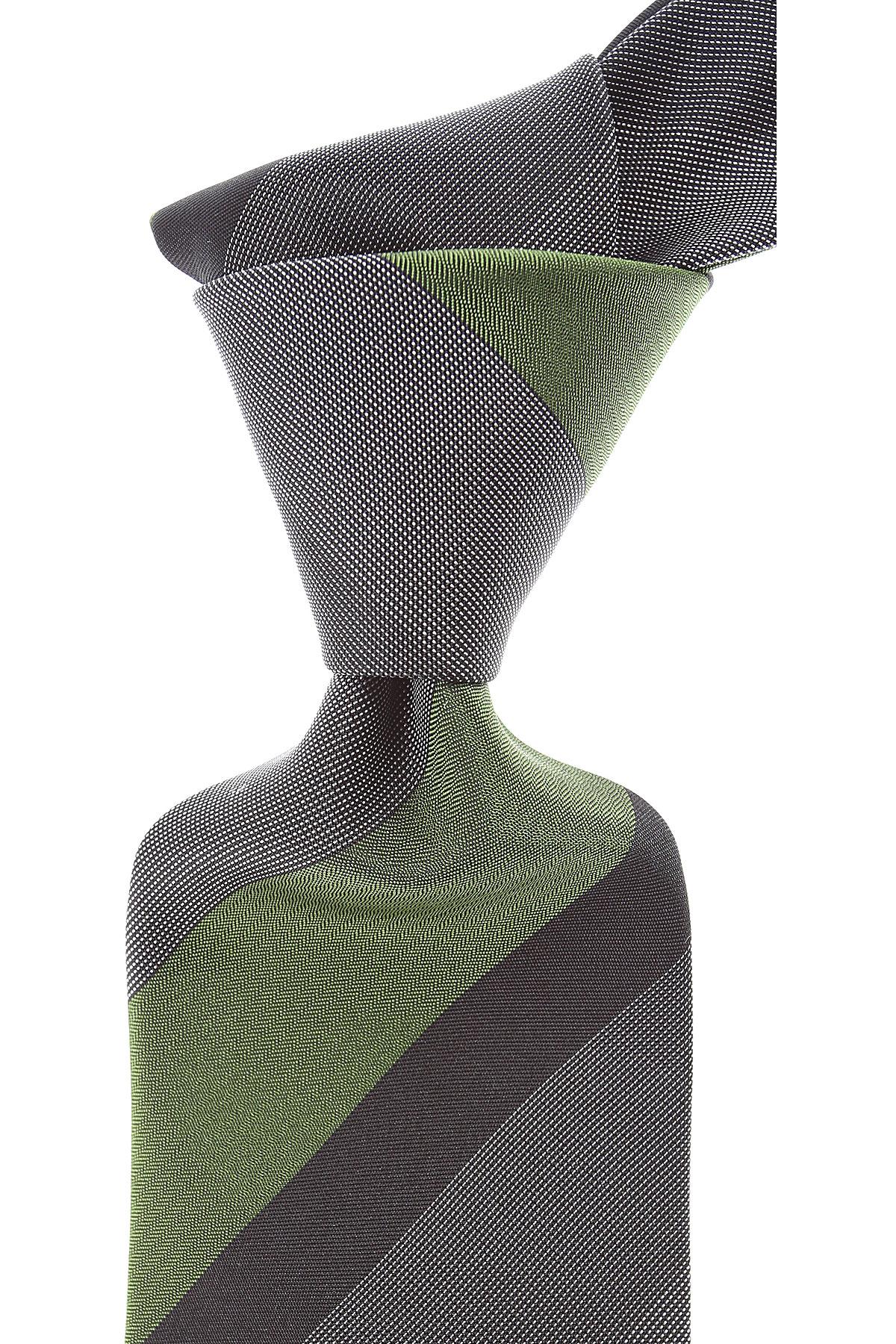 Moschino Cravates Pas cher en Soldes, Variété de gris, Soie, 2019