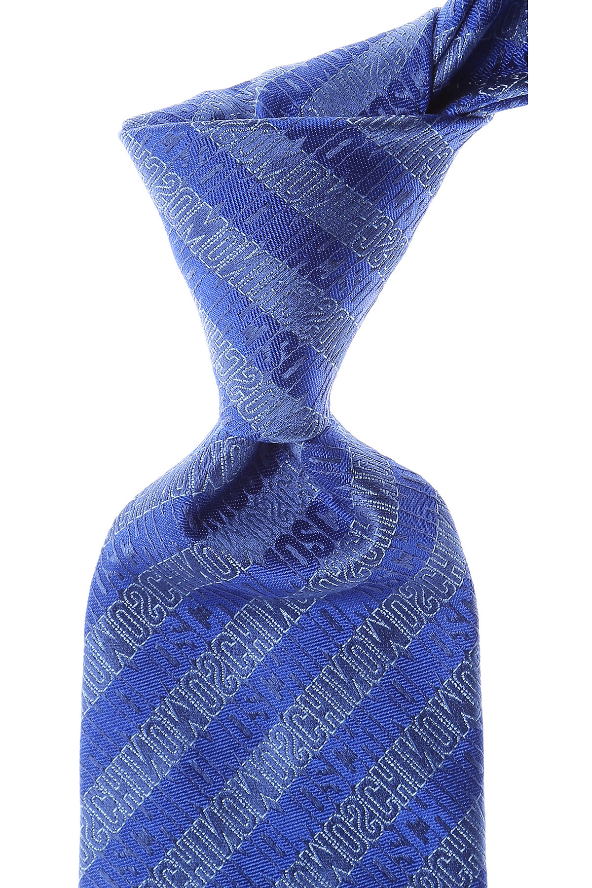 Cravates Moschino Pas cher en Soldes, Bleu électrique, Soie, 2017