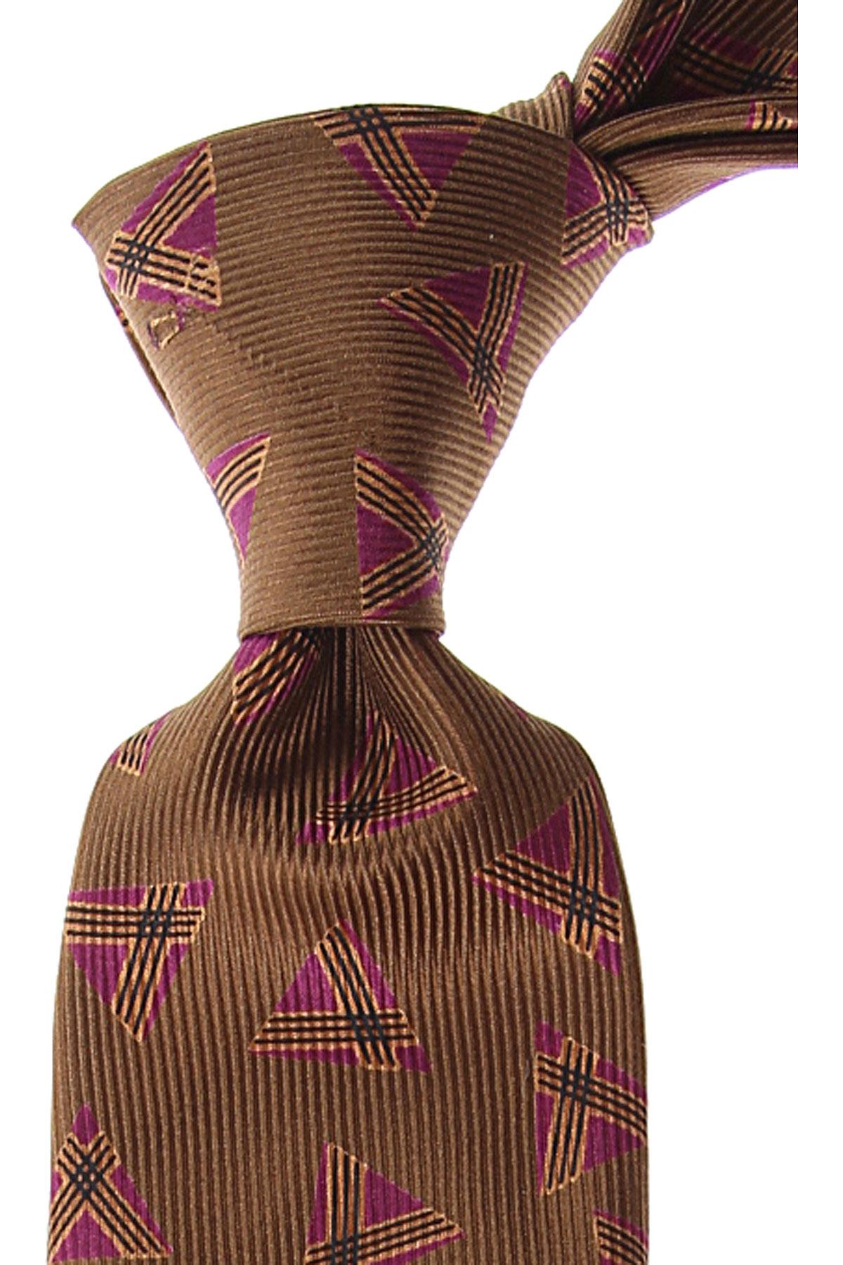 Moschino Cravates Pas cher en Soldes, Marron, Soie, 2021