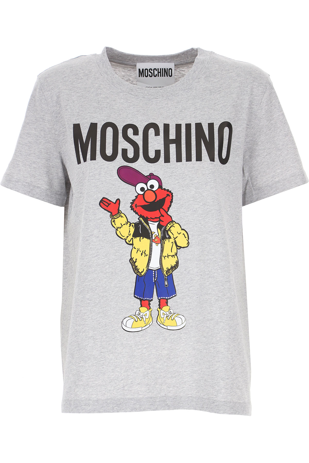 Moschino T-shirt Femme, Gris, Coton, 2021, 38 40 46 M