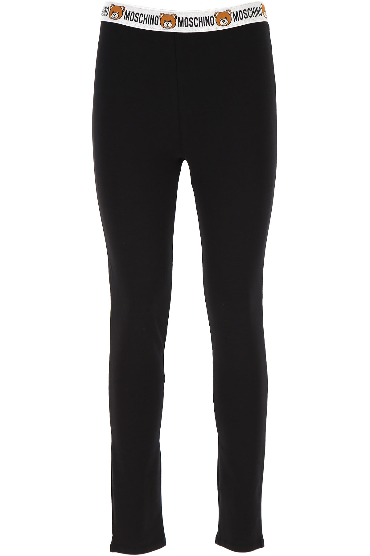 Moschino Women's Sportswear for Gym Workouts and Running On Sale, Black, Cotton, 2019, 4 6