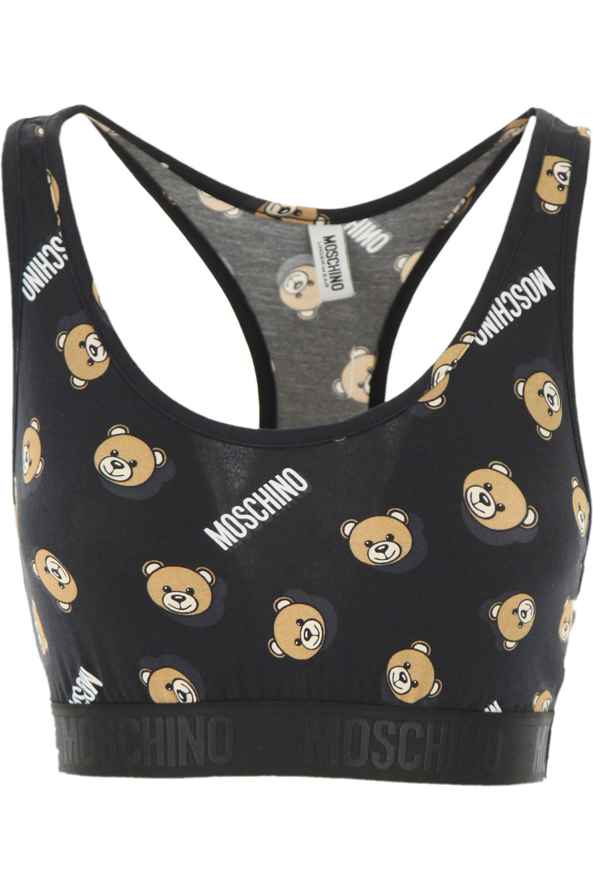 Moschino Women's Sportswear for Gym Workouts and Running On Sale, Black, Cotton, 2019, 2 4 6