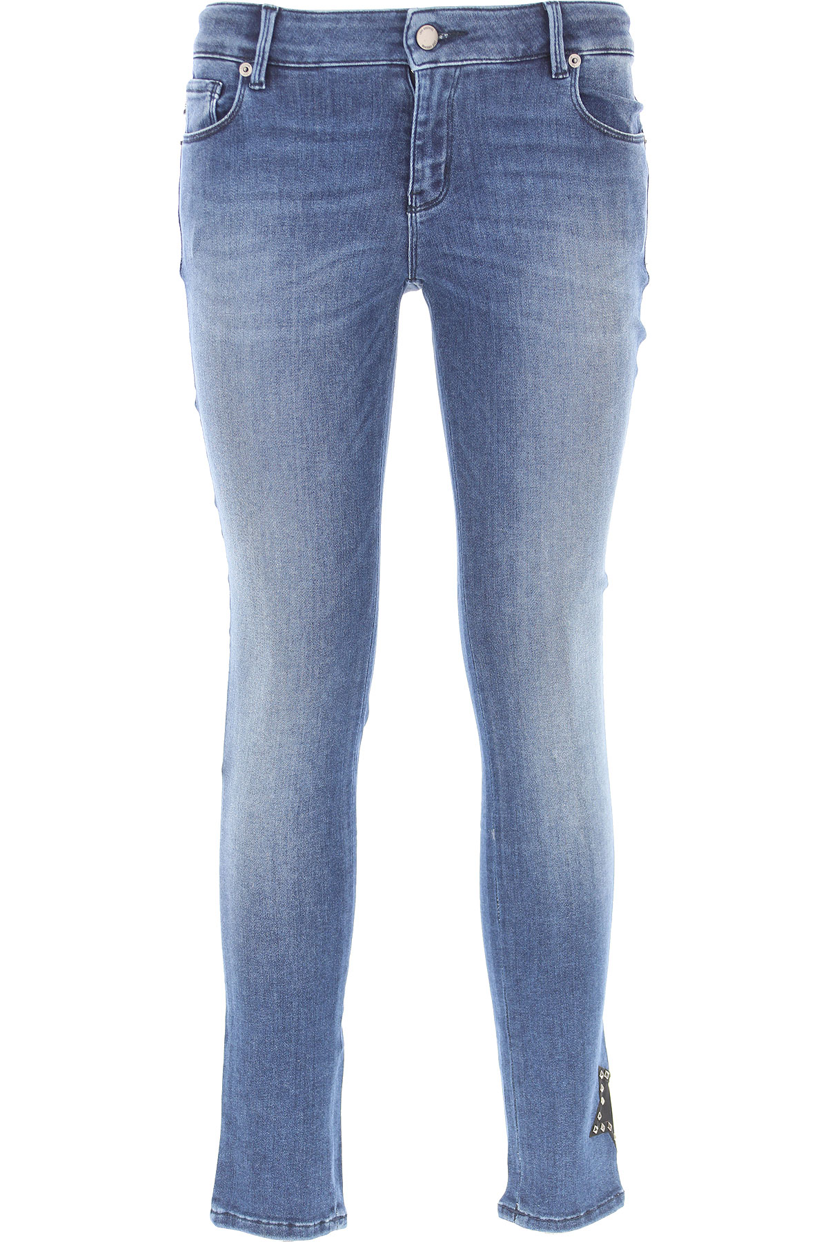 Moschino Jeans On Sale, Denim Blue, Cotton, 2017, 26 27 28 29 30