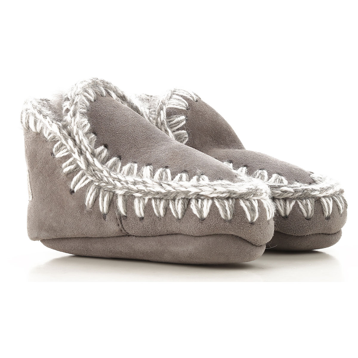 Image of Mou Baby Shoes for Girls, Grey, Leather, 2017, M L