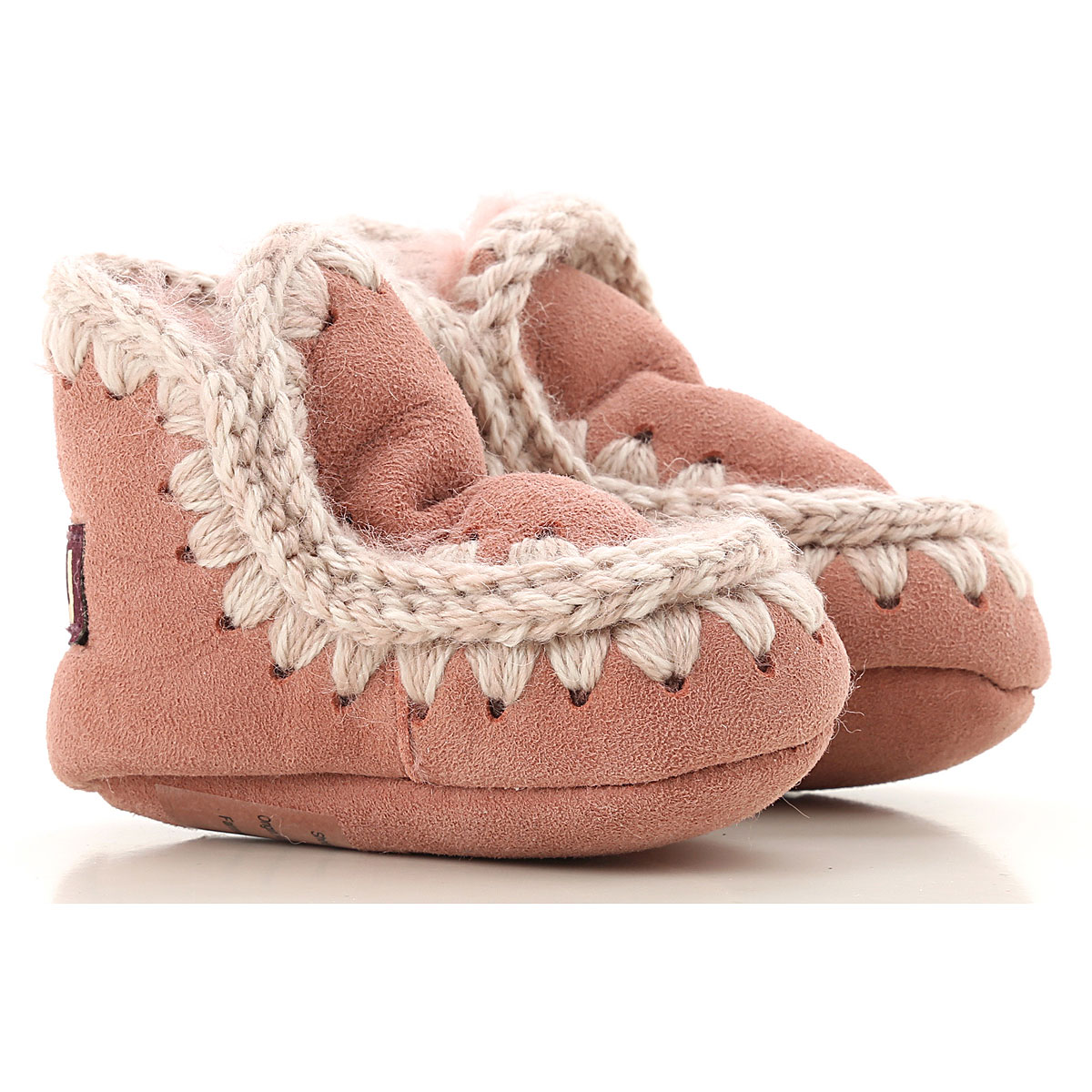 Image of Mou Kids Shoes for Girls, Pink, Suede leather, 2017, S M L
