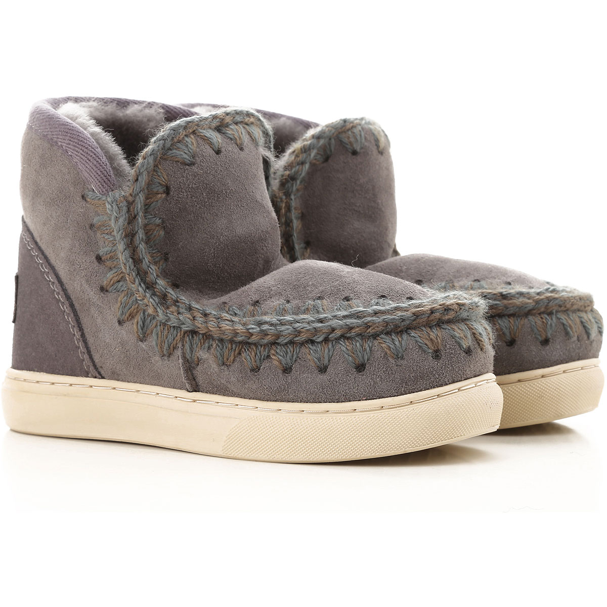 Image of Mou Kids Shoes for Girls, Grey, Leather, 2017, 25 26 27 28 29 30 31 32 33 34 35