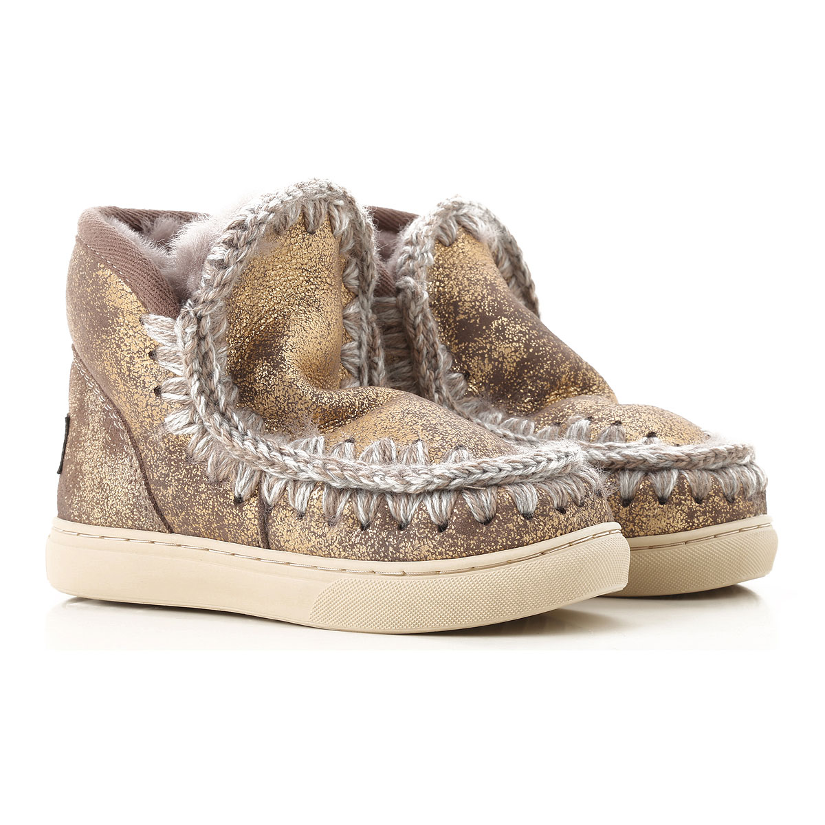 Image of Mou Kids Shoes for Girls, Bronze, Leather, 2017, 25 26 27 28 29 30 31 32 33 34 35