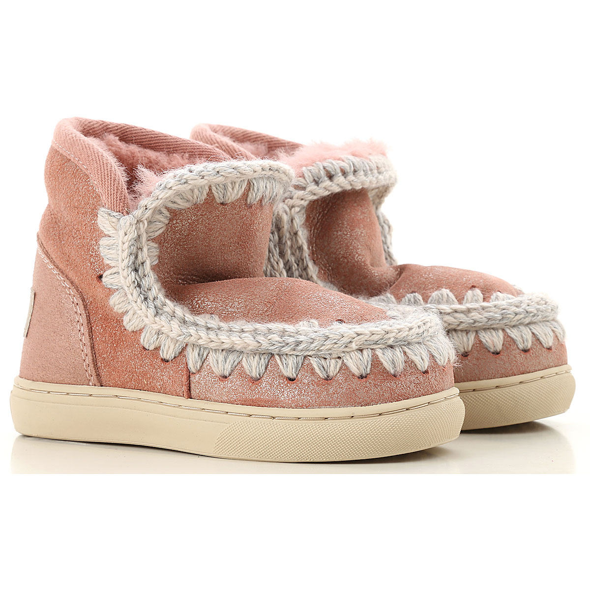 Image of Mou Kids Shoes for Girls, Pink, Suede leather, 2017, 26 27 28 29 30