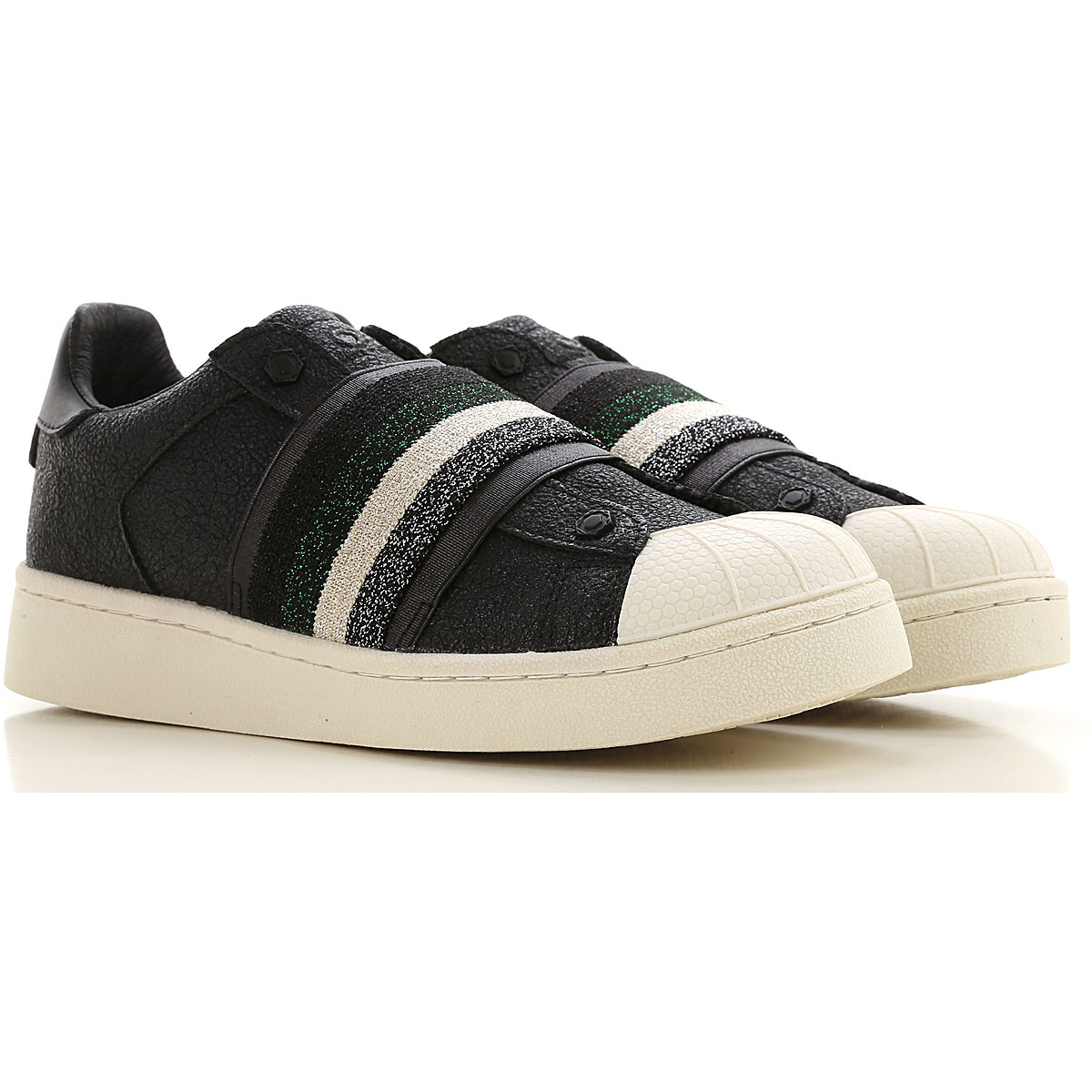 Moa Master of Arts Sneakers for Women, Black, Leather, 2019, 5 6