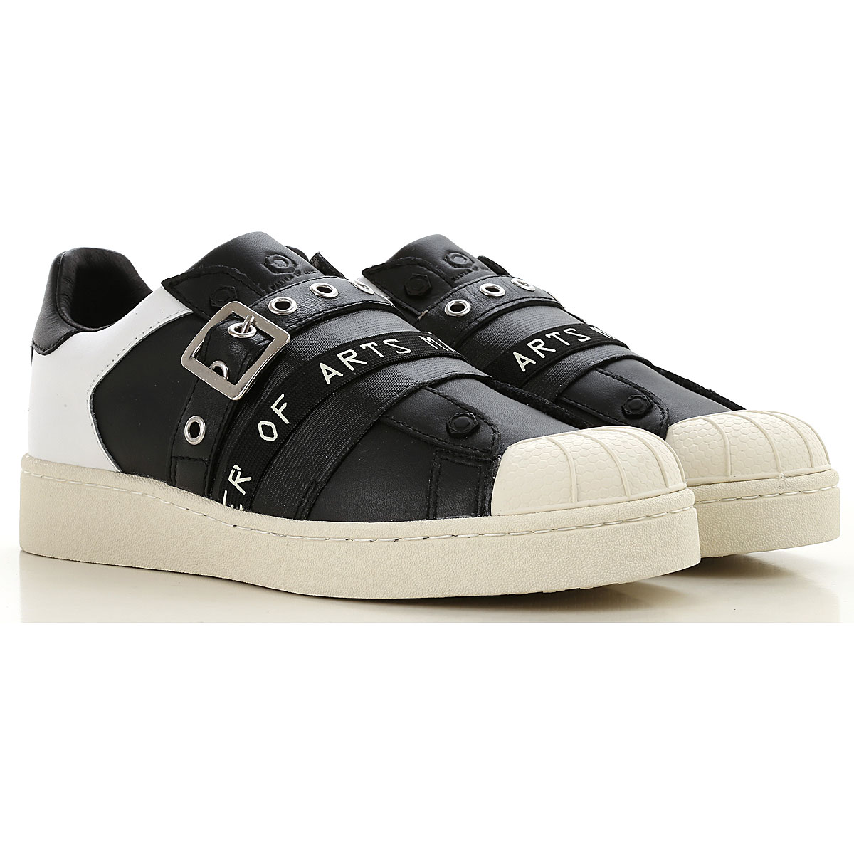 Image of Moa Master of Arts Slip on Sneakers for Women, Black, Textile, 2017, 10 6 7 8 9