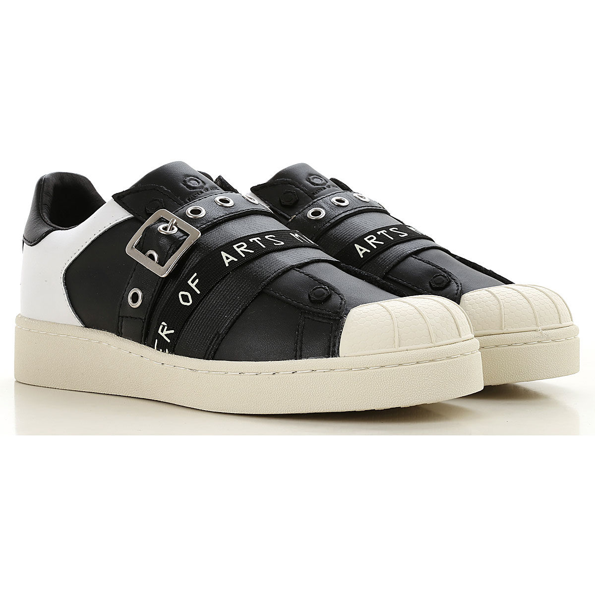 Image of Moa Master of Arts Slip on Sneakers for Women, Black, Leather, 2017, 10 6 7 8 9