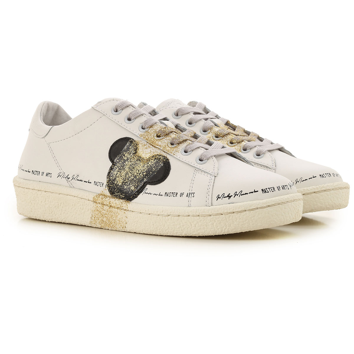 Moa Master of Arts Sneakers for Women On Sale, White, Leather, 2019, 7 8 9