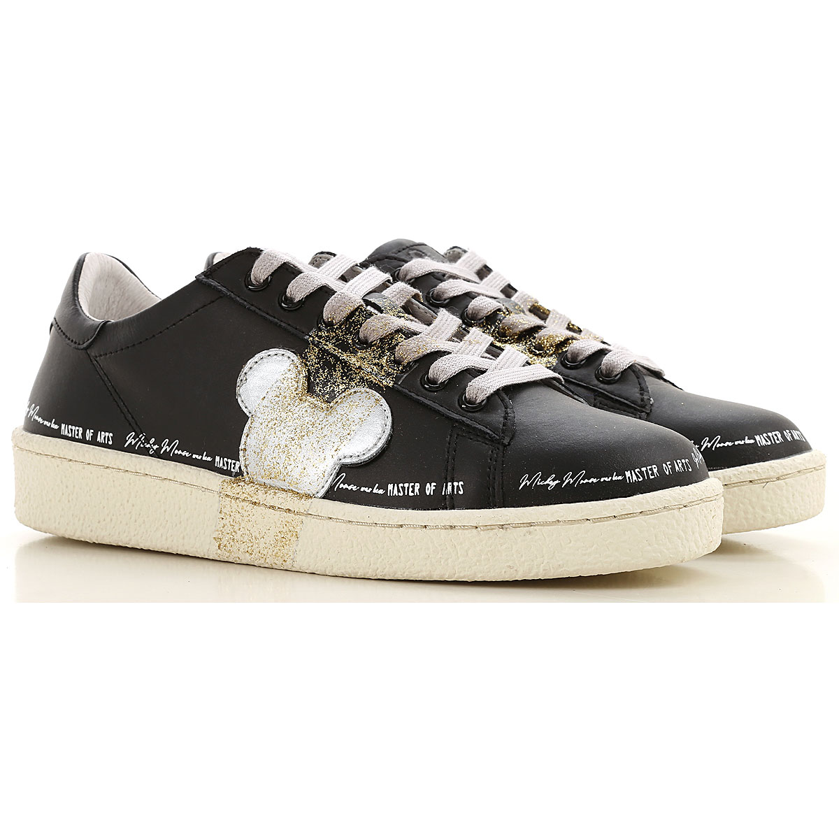 Moa Master of Arts Sneakers for Women On Sale, Black, Leather, 2019, 6 7 8 9