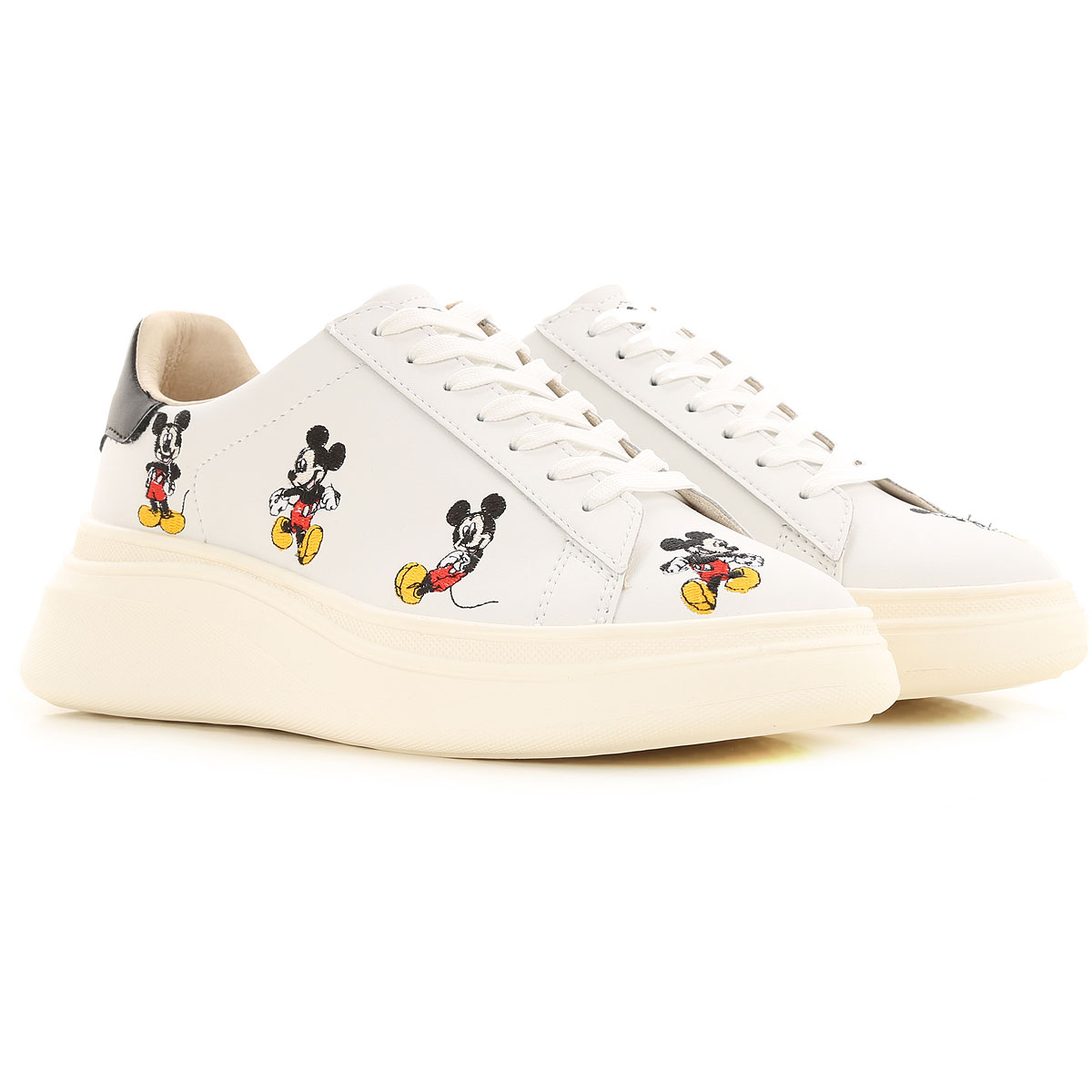 Moa Master of Arts Sneakers for Women On Sale, White, Leather, 2019, 10 5 7 8