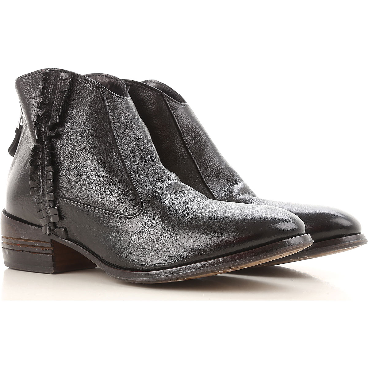 Image of Moma Boots for Women, Booties, Black, Leather, 2017, 10 6 7 8
