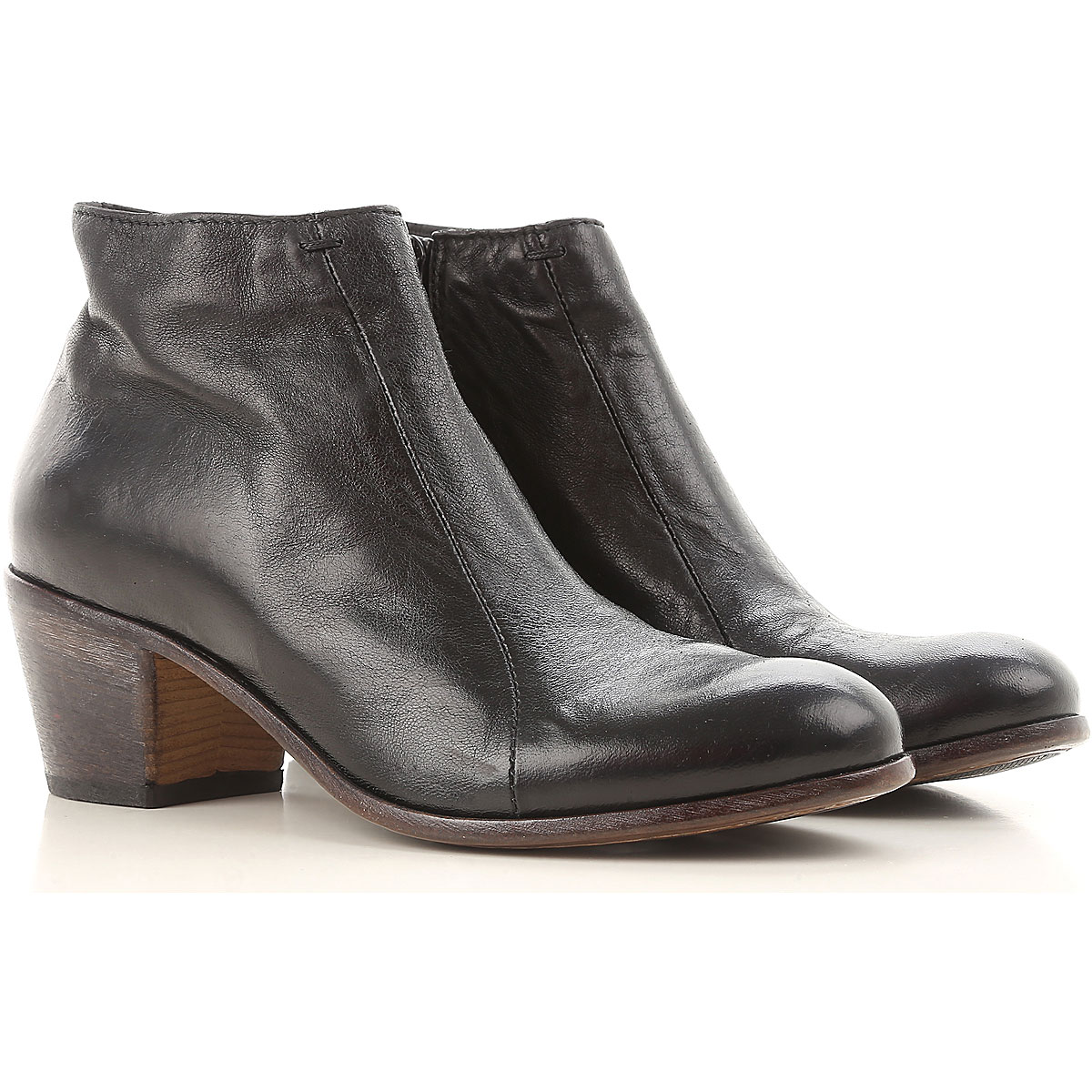 Image of Moma Boots for Women, Booties, Black, Leather, 2017, 10 8